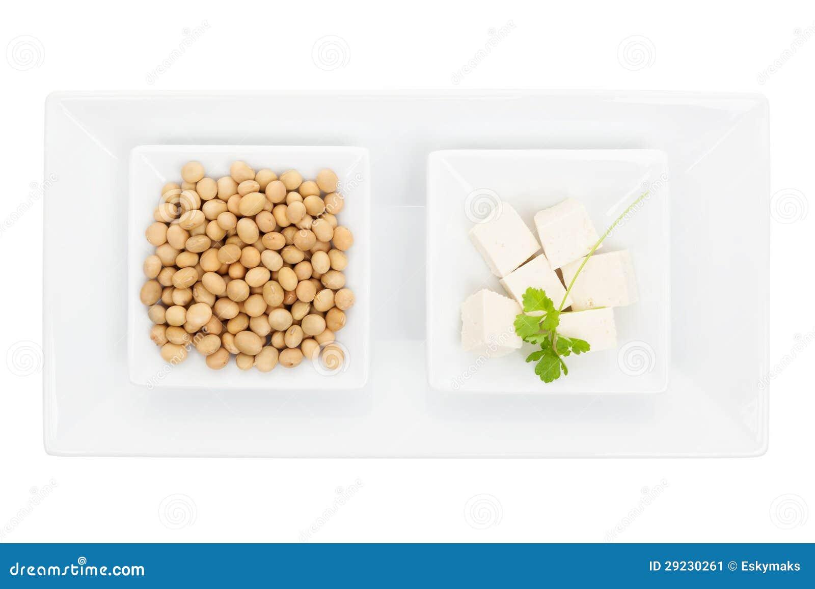 Download Feijões de soja e tofu. imagem de stock. Imagem de horizontal - 29230261