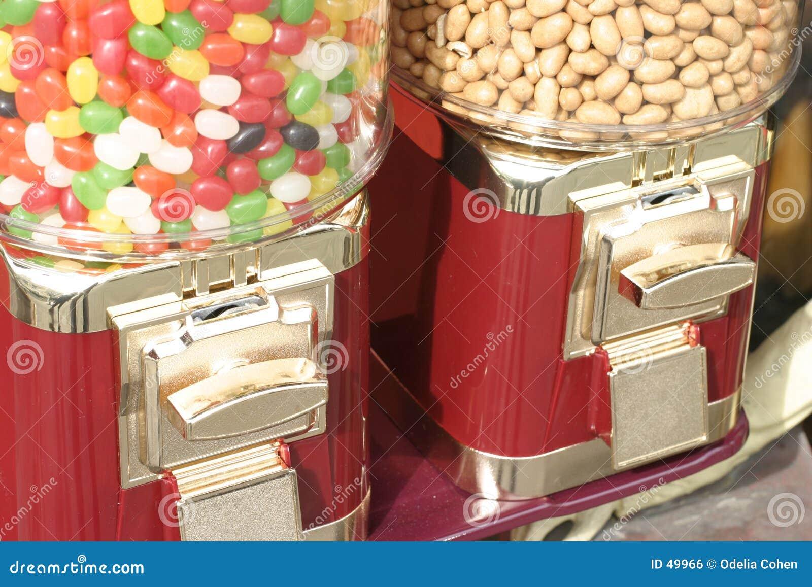 Feijões e amendoins de geléia