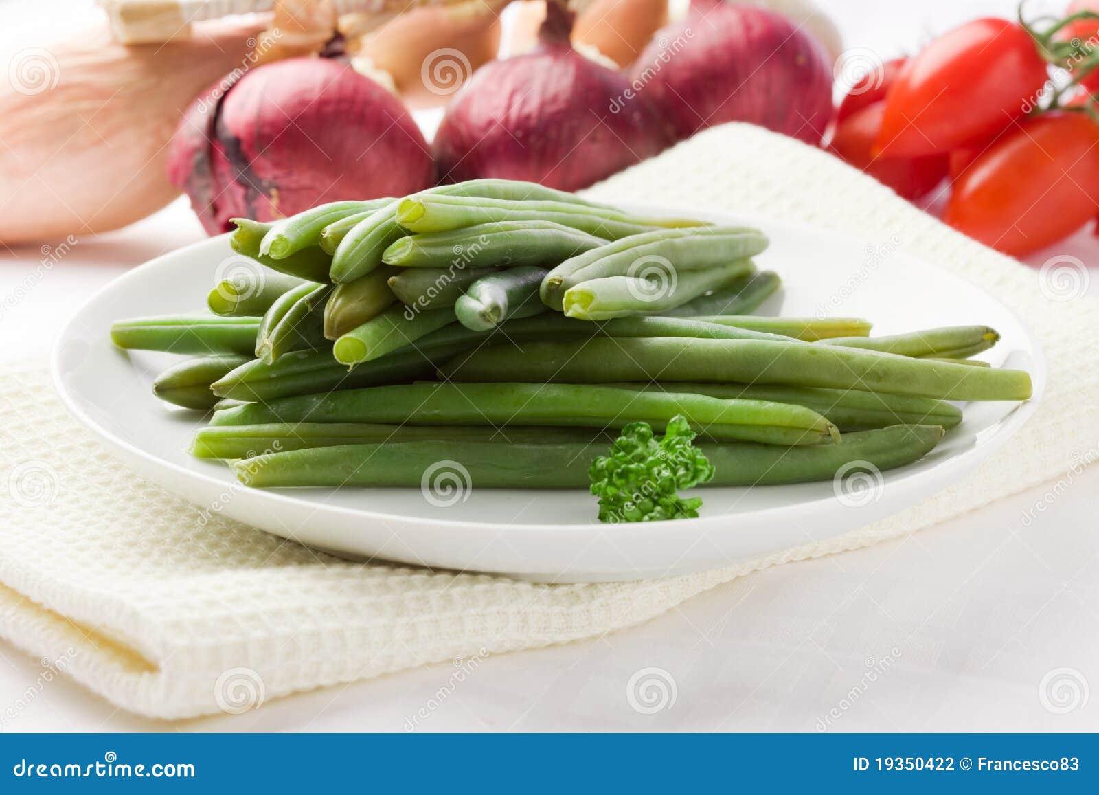 Feijões verdes - feijões franceses