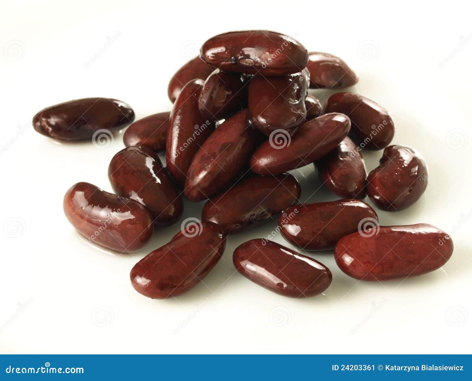 Feijões vermelhos, isolados