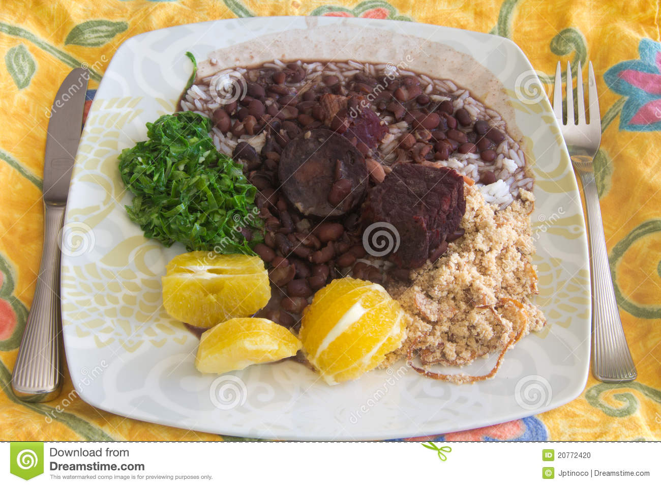 This is the Feijoada, a typical brazilian meal, specially at Rio de ...