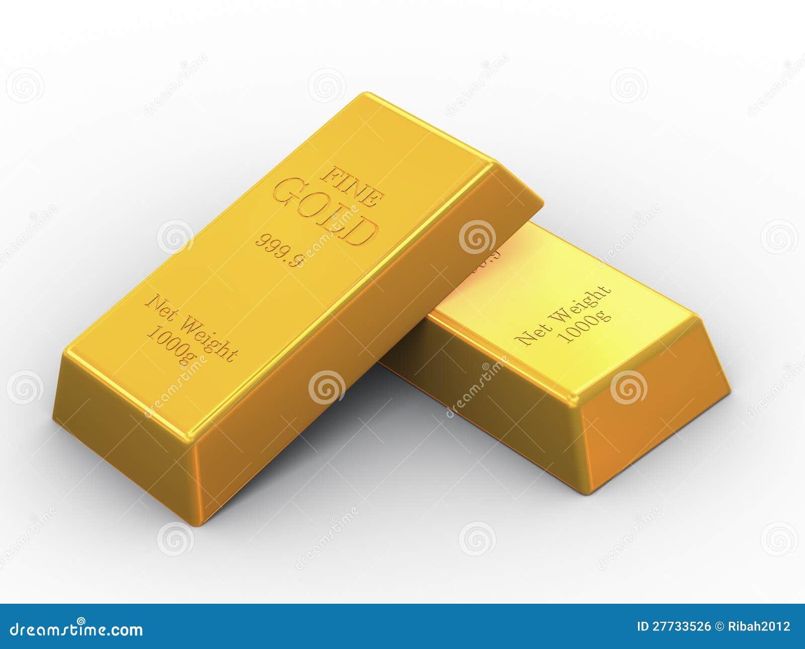 Feine Stäbe des Gold 3d zwei