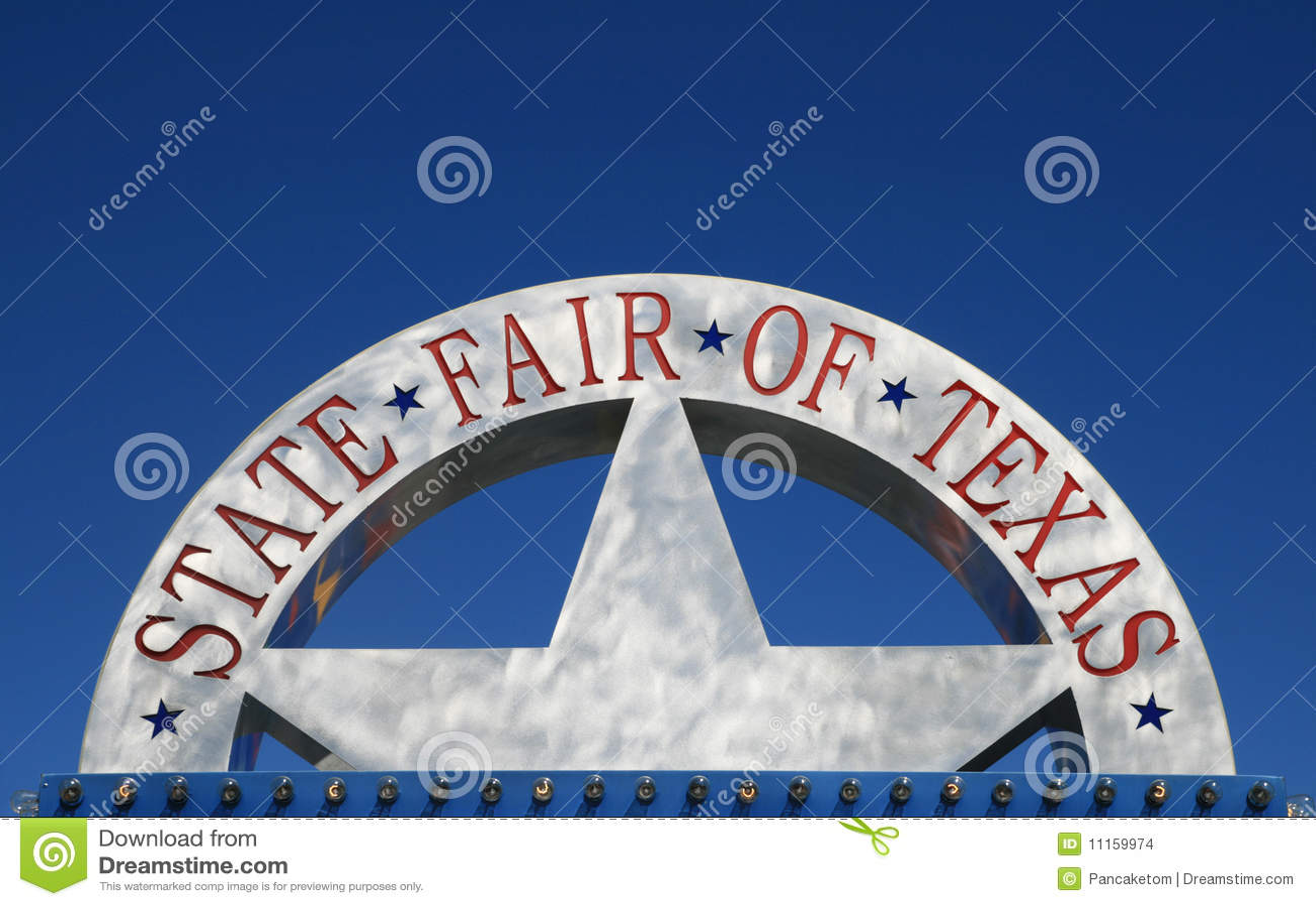 Feira do estado do sinal de Texas