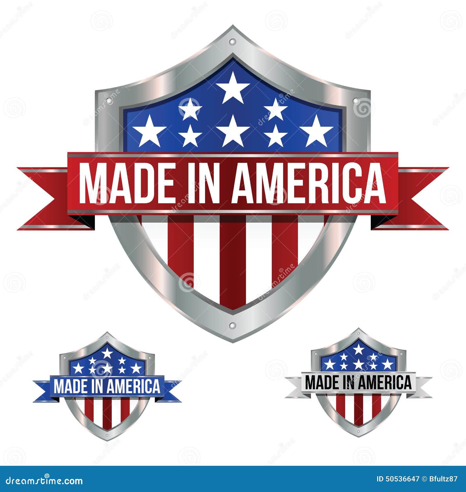 Feito em ícones de América