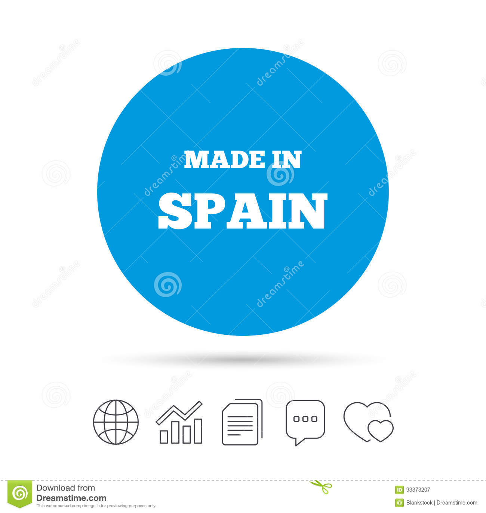 Feito no ícone da Espanha Símbolo da produção da exportação