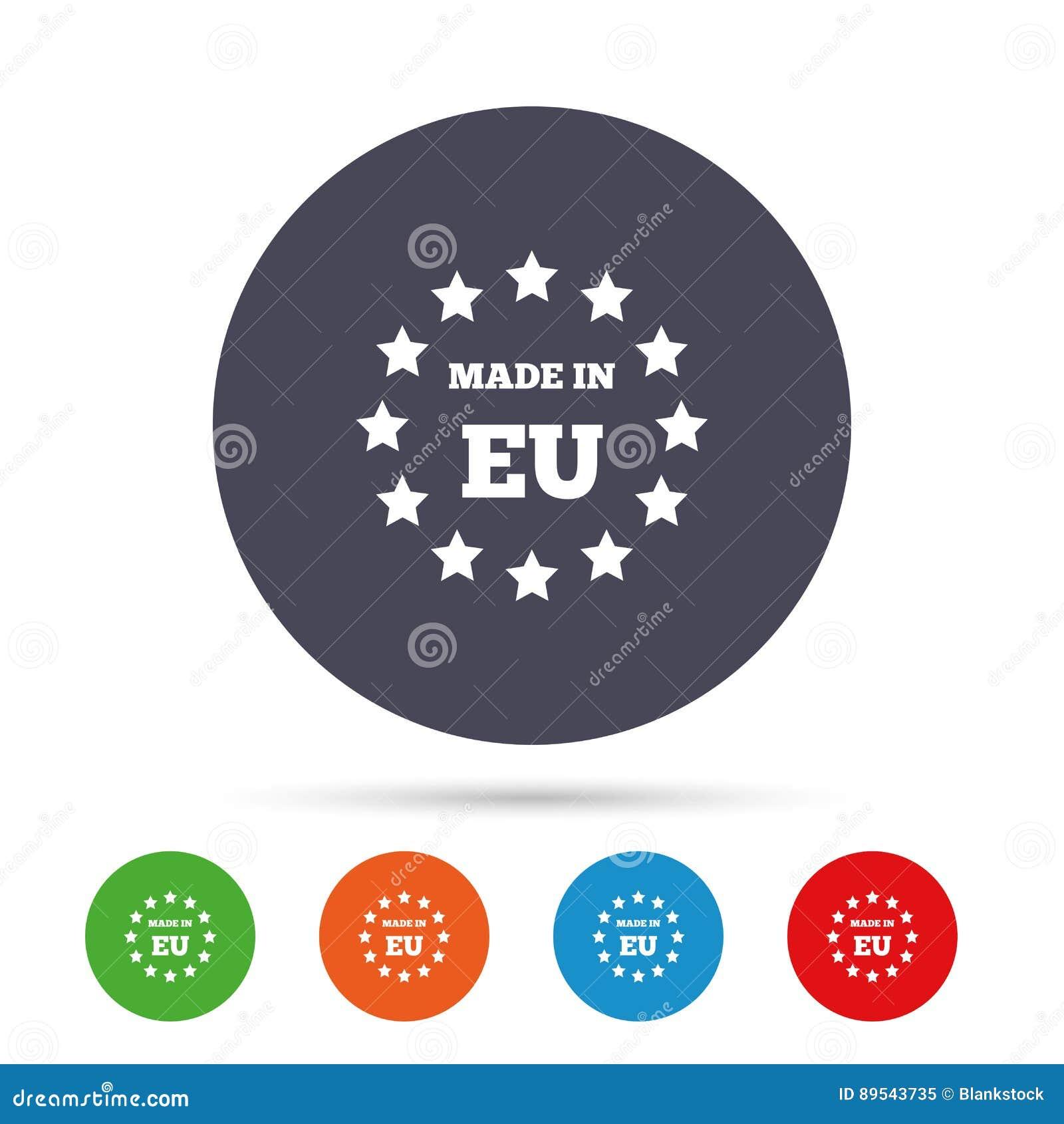 Feito no ícone da UE Símbolo da produção da exportação