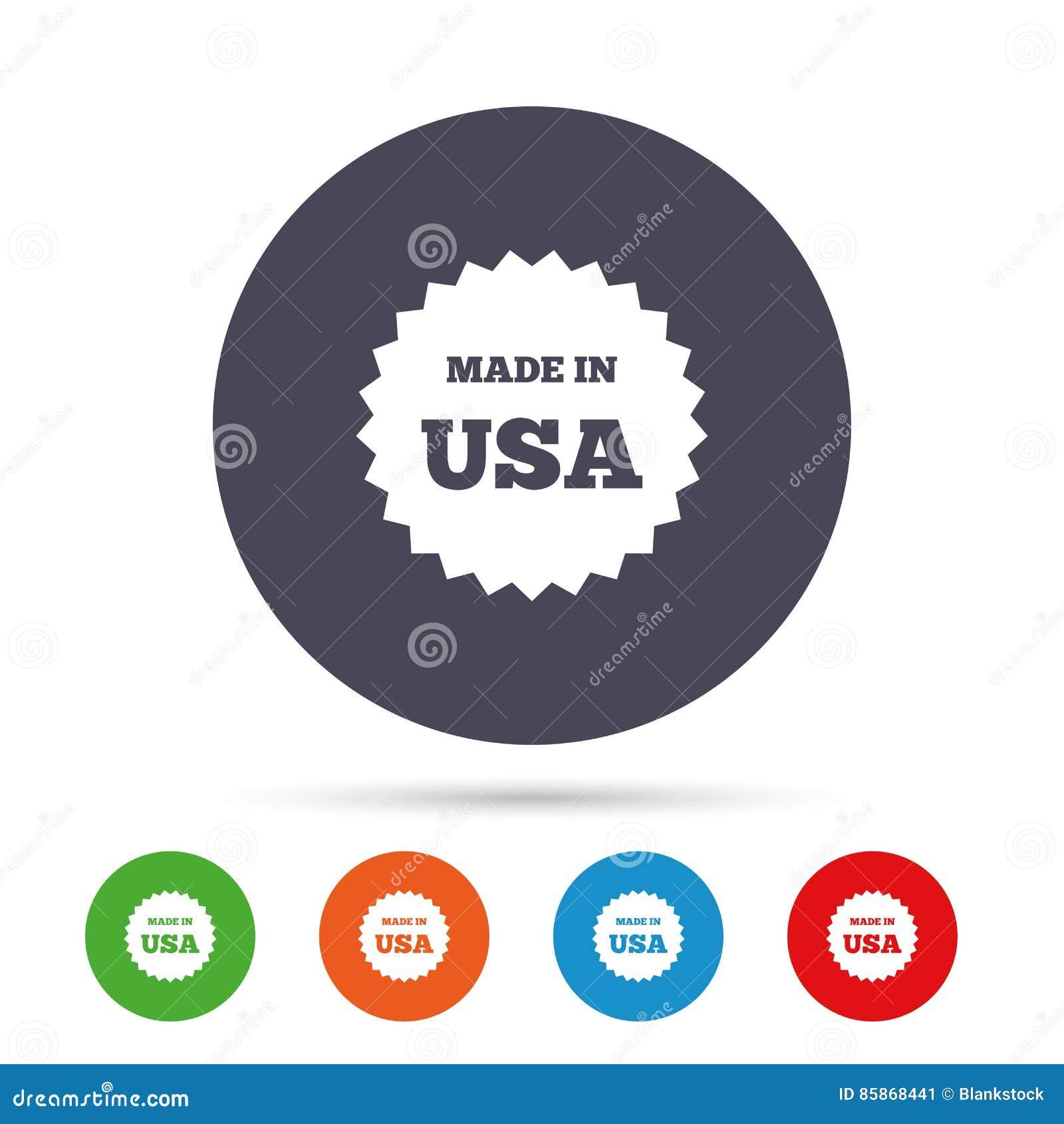 Feito no ícone dos EUA Símbolo da produção da exportação