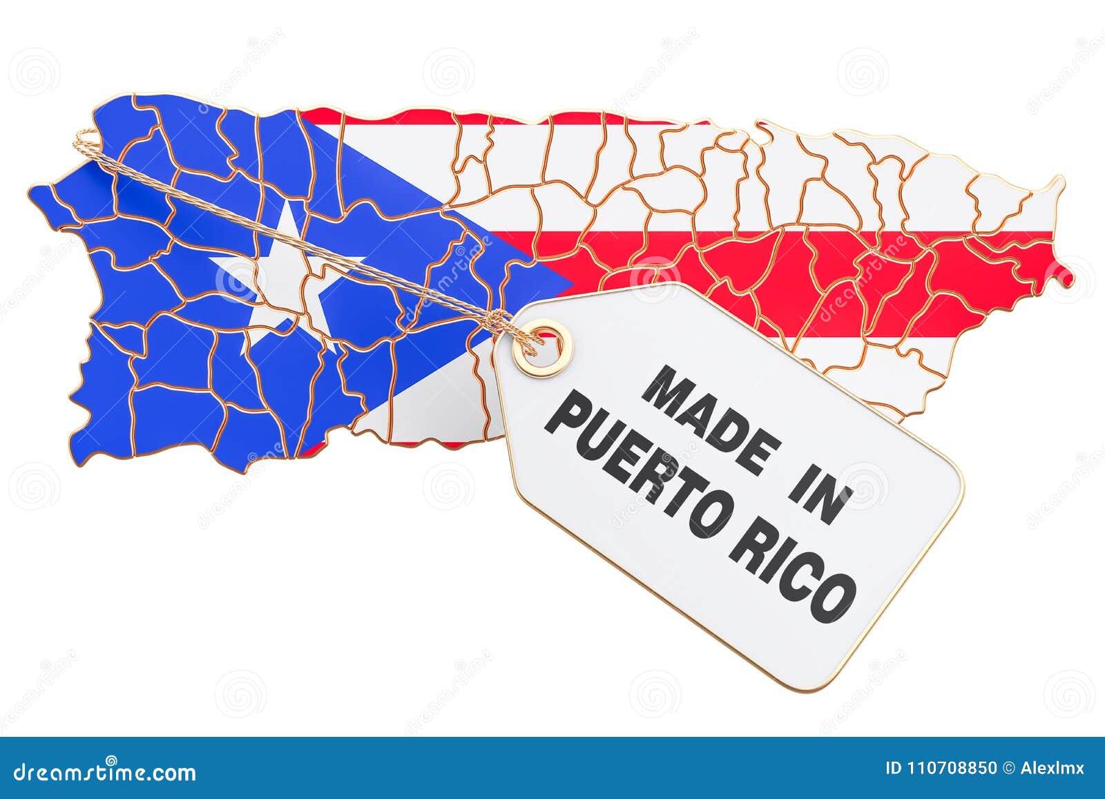 Feito no conceito de Porto Rico, rendição 3D