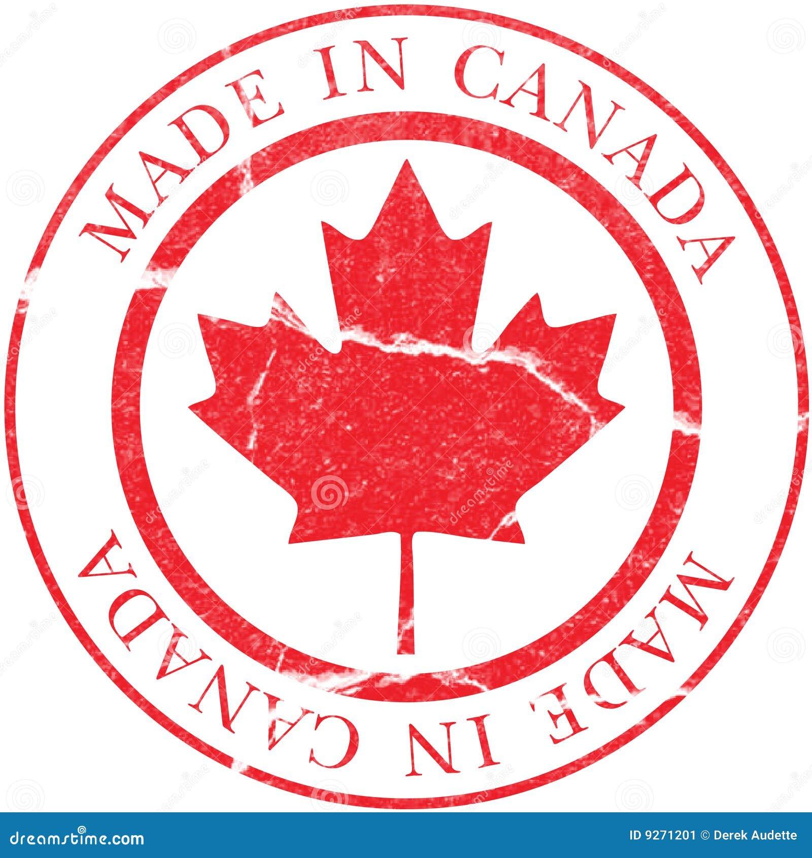Feito no decalque de Canadá