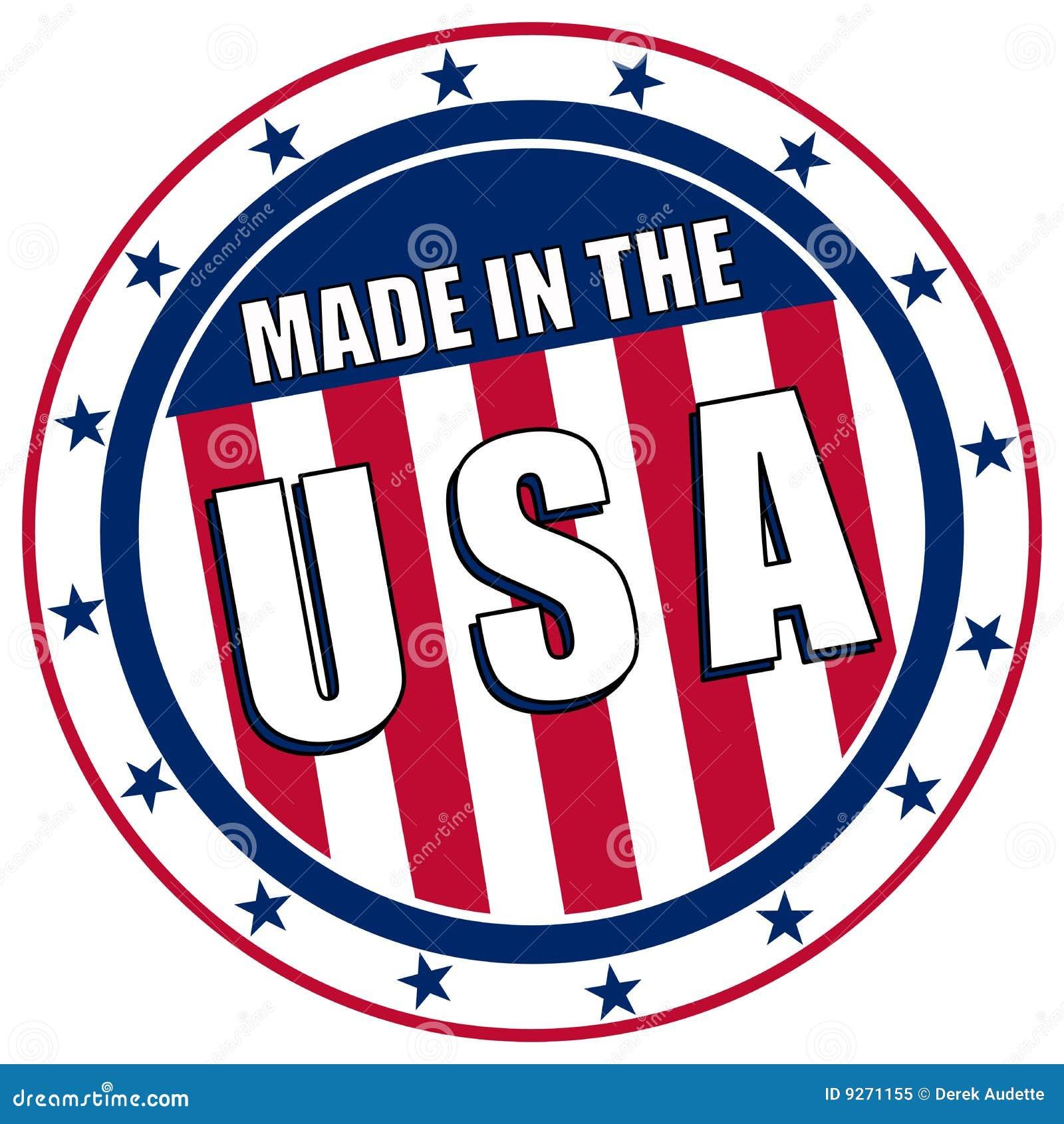 Feito no decalque dos EUA