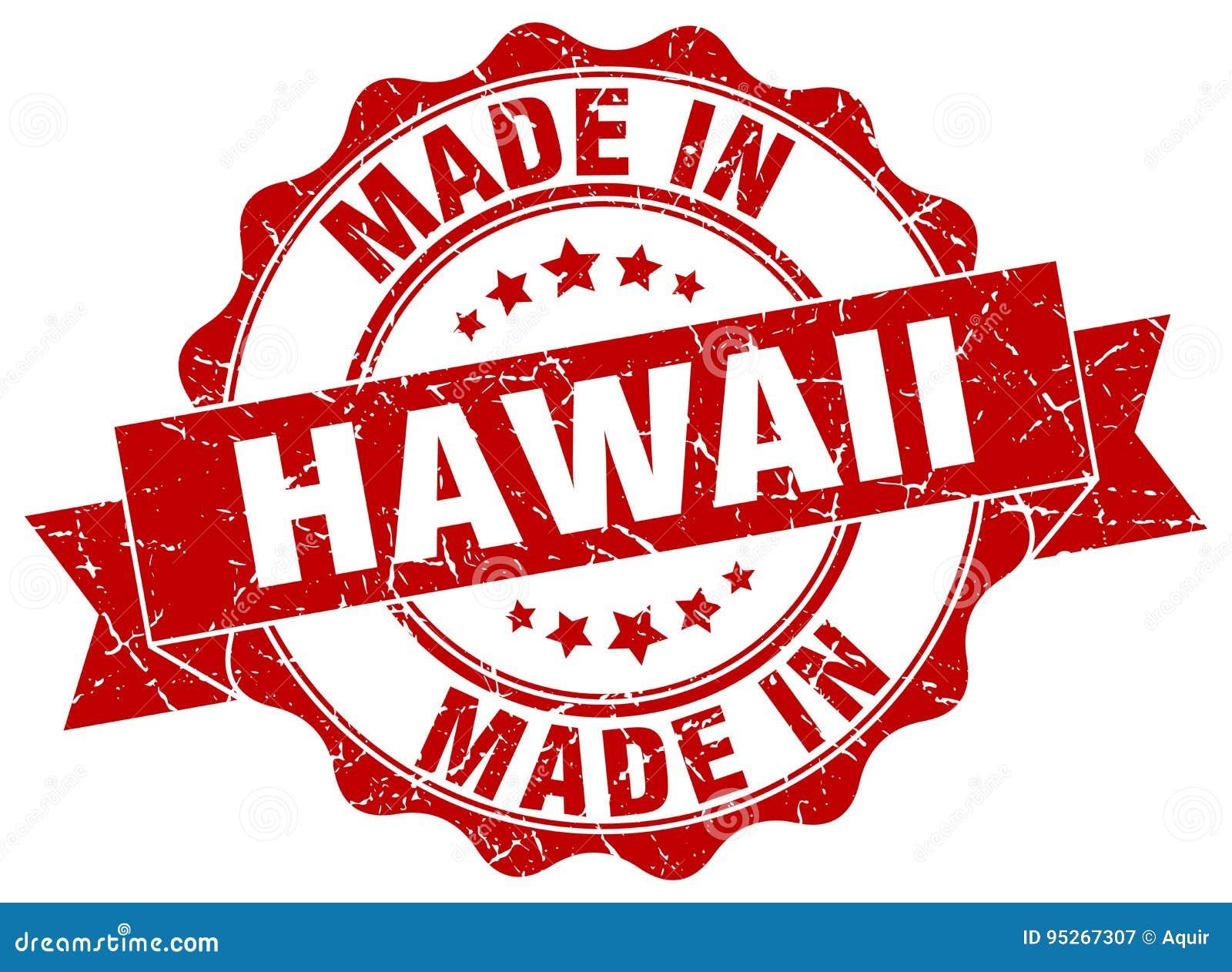 Feito no selo de Havaí