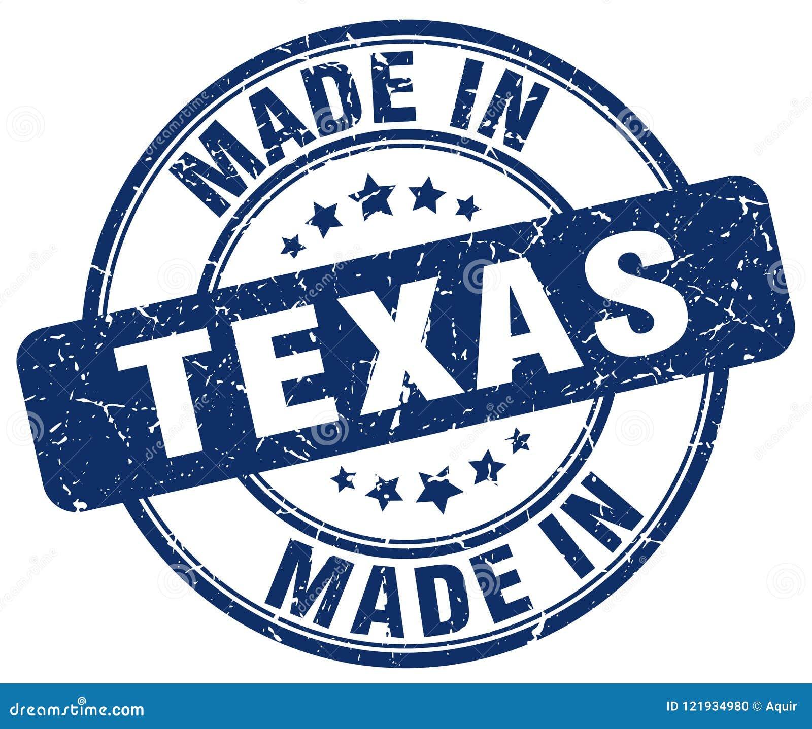 Feito no selo de Texas