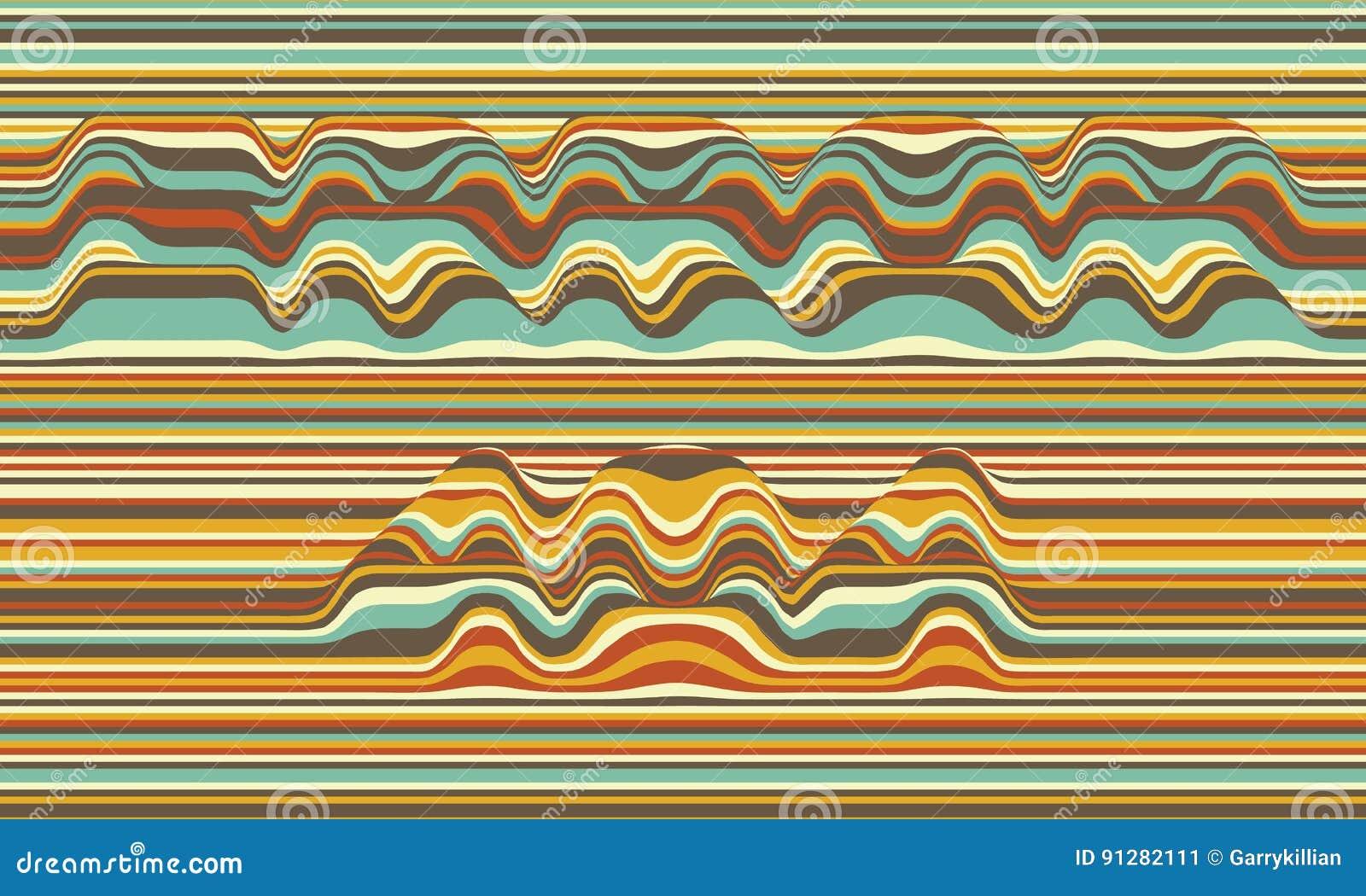 Fel 404 randig vektor för bakgrund abstrakt färgwaves Svängning för solid våg Skraj krullade linjer