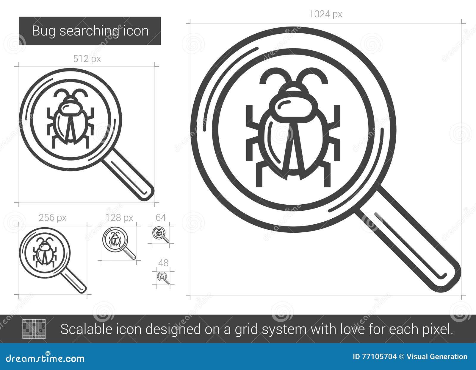 Fel som söker linjen symbol