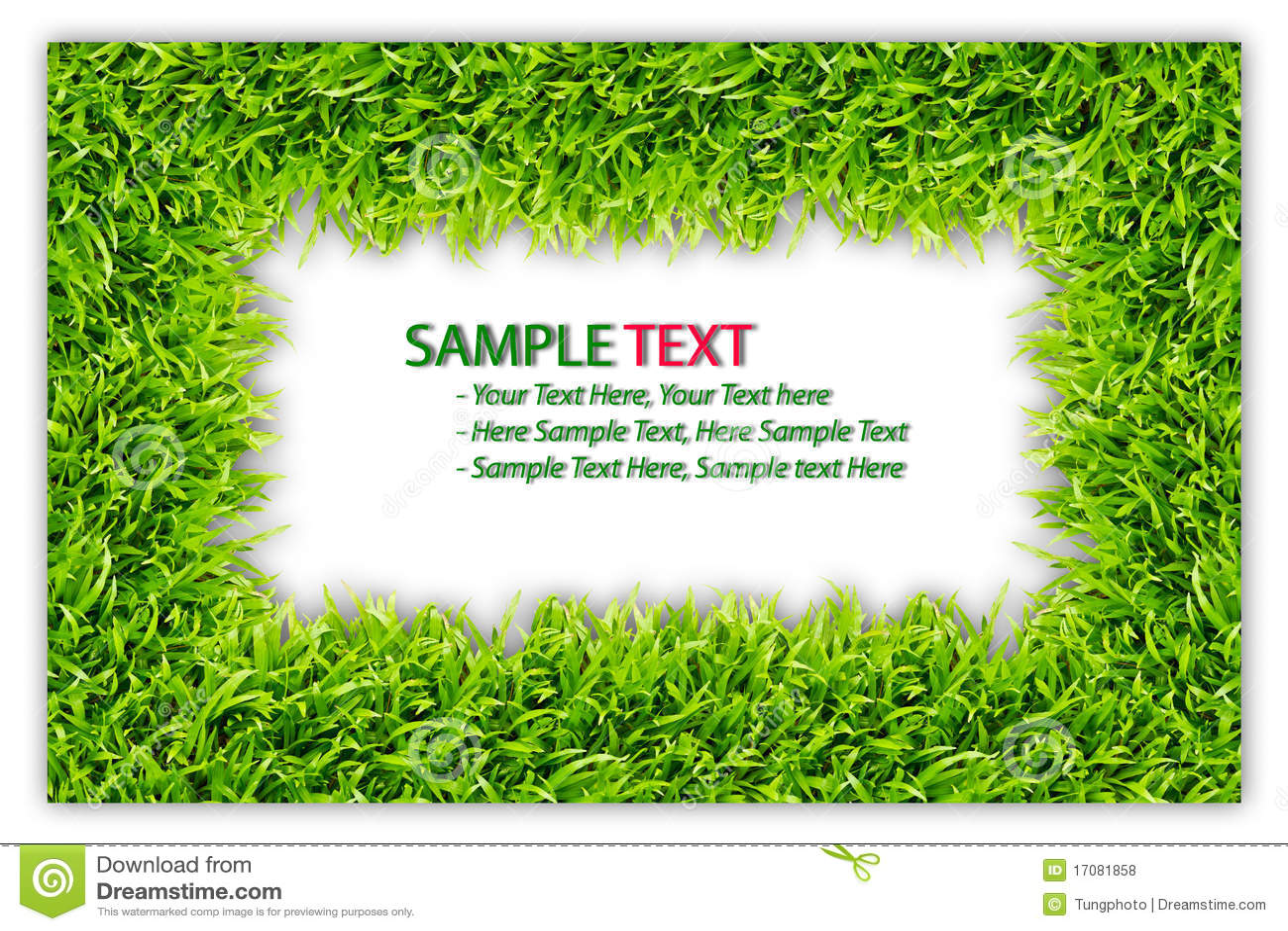 Feld des grünen Grases getrennt