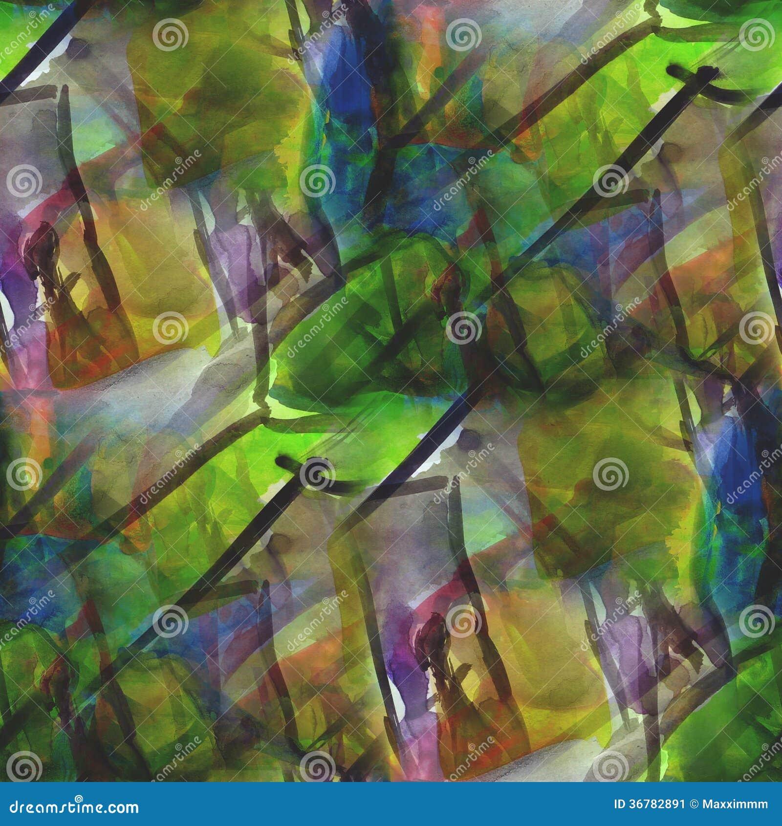 Feld die braune, grüne grafische nahtlose Artpalette