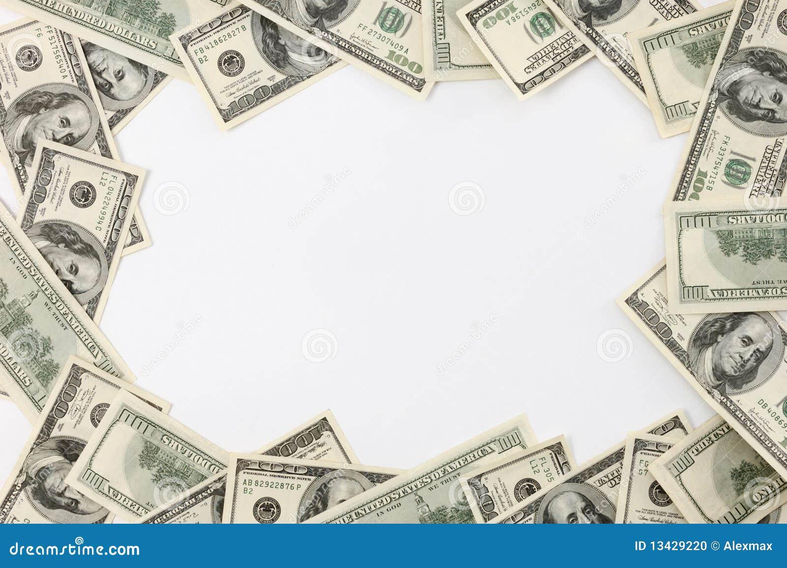 Feld Gebildet Von Den Dollarscheinen Stockfoto - Bild von ...