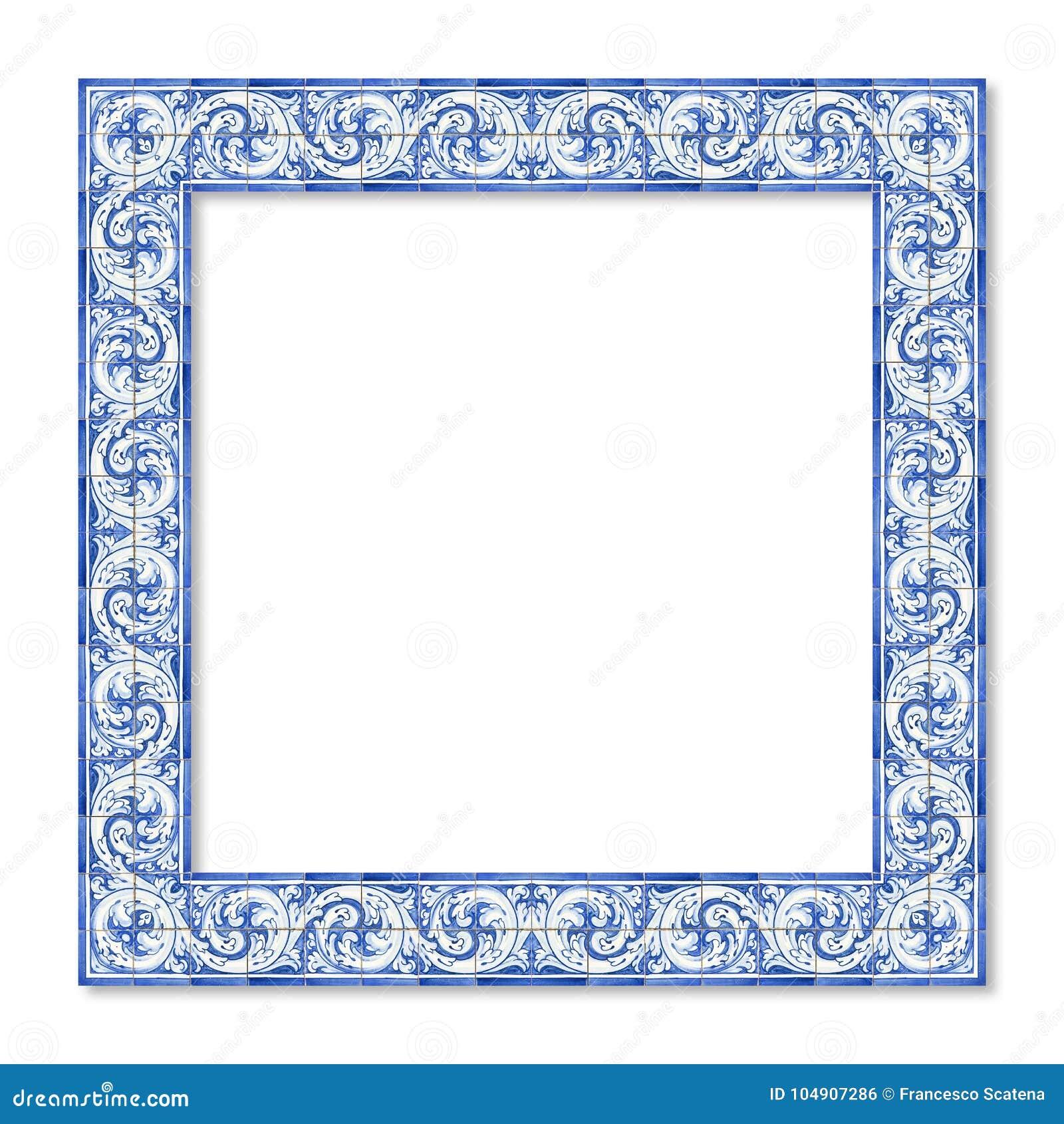 Felddesign mit den typischen portugiesischen Dekorationen genannt