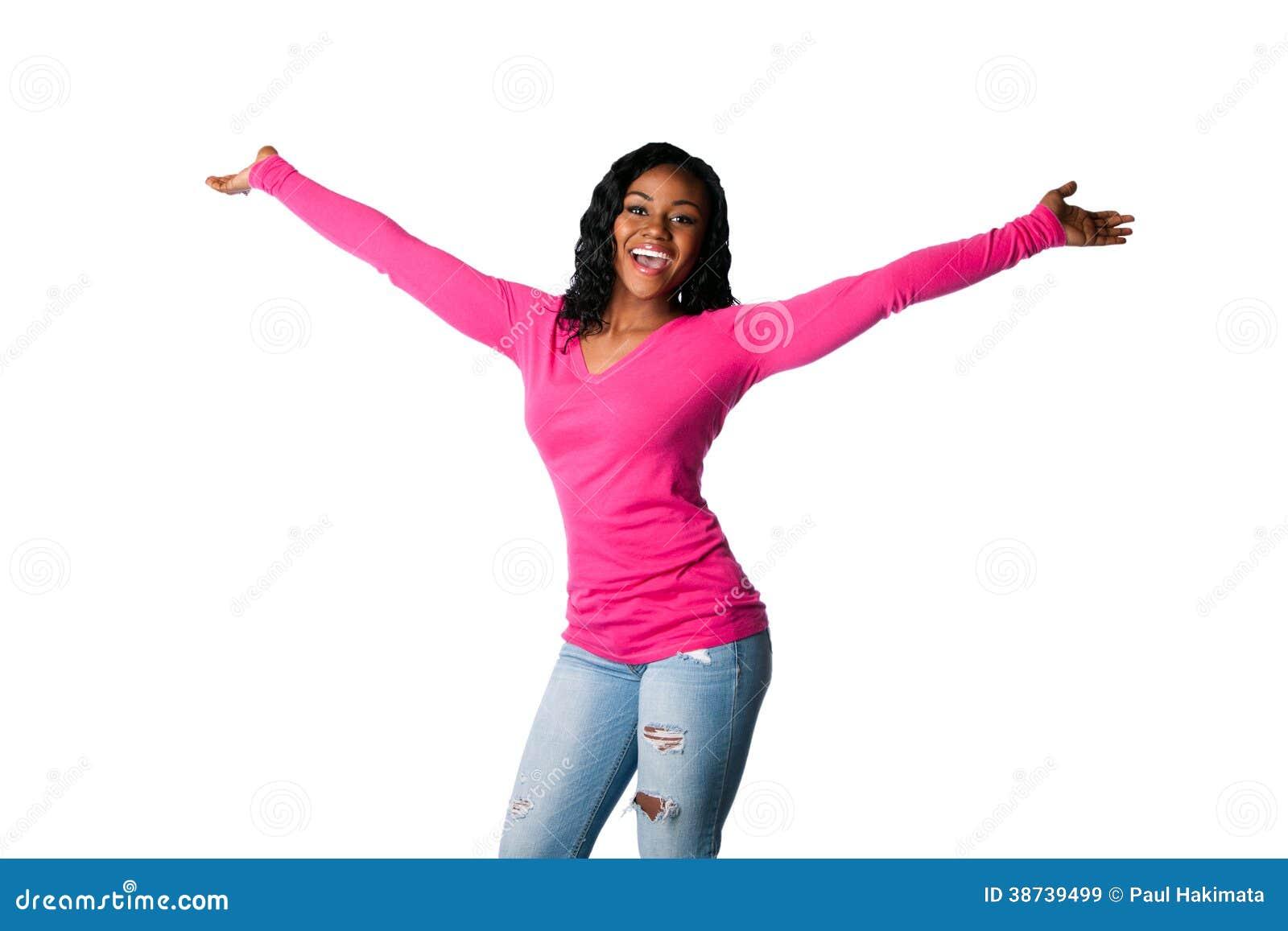 Felicidad con los brazos abiertos