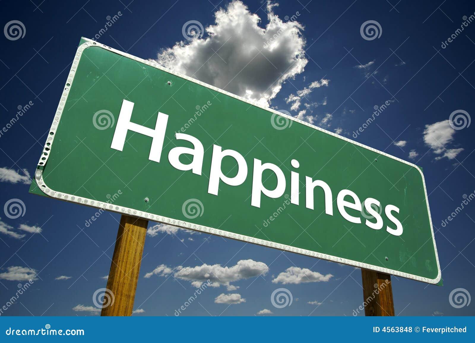 Felicidade - sinal de estrada