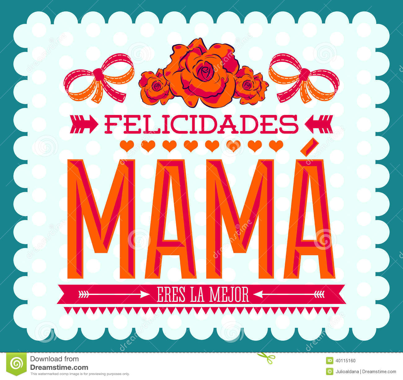 felicidades mama  congrats mother spanish text stock