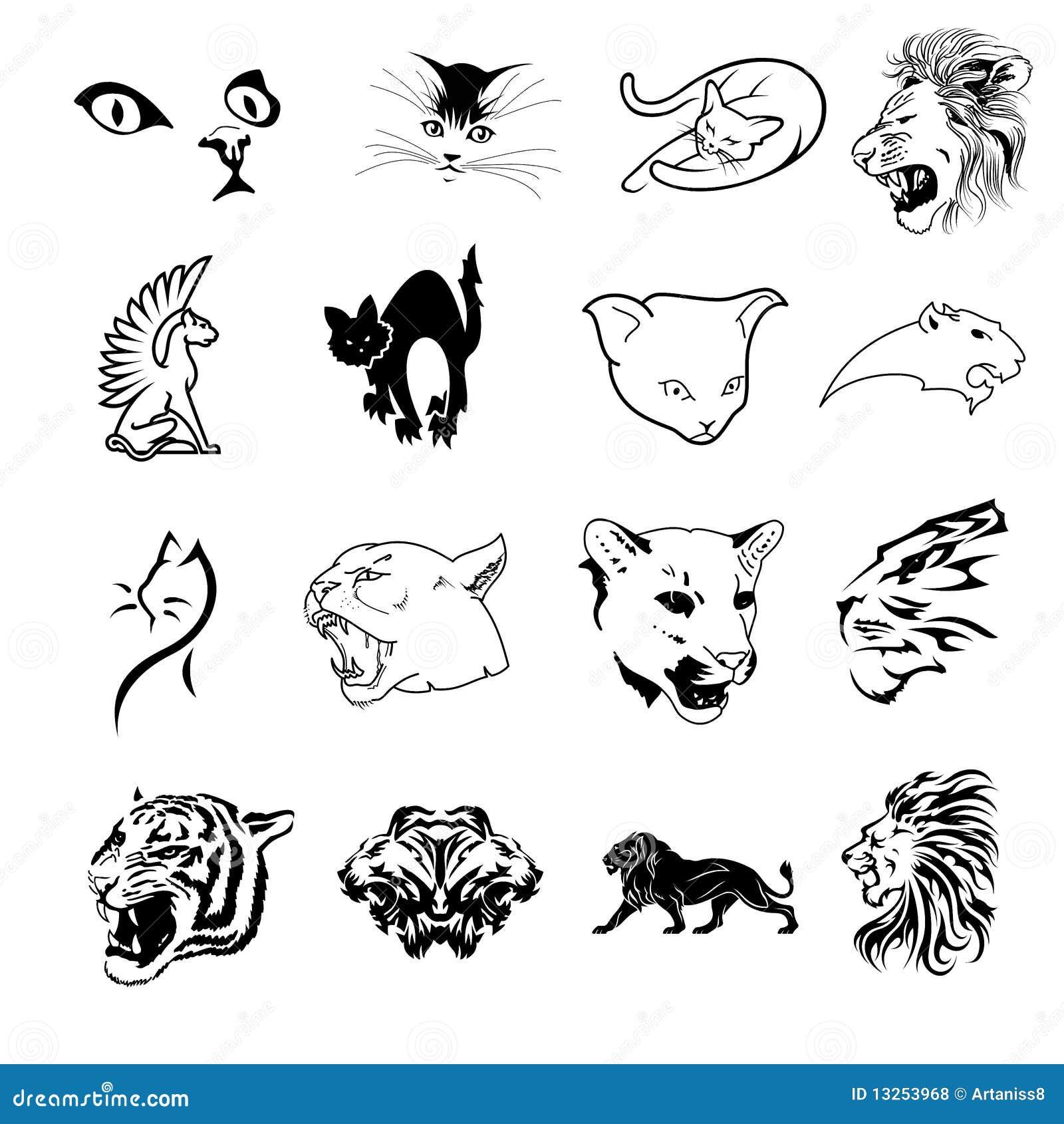 Feline symboler för samling