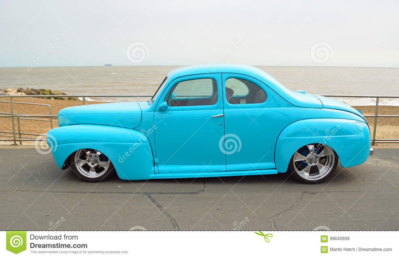 Classic Blue Ford Coupe Hot Rod Editorial Stock Image Of 1941