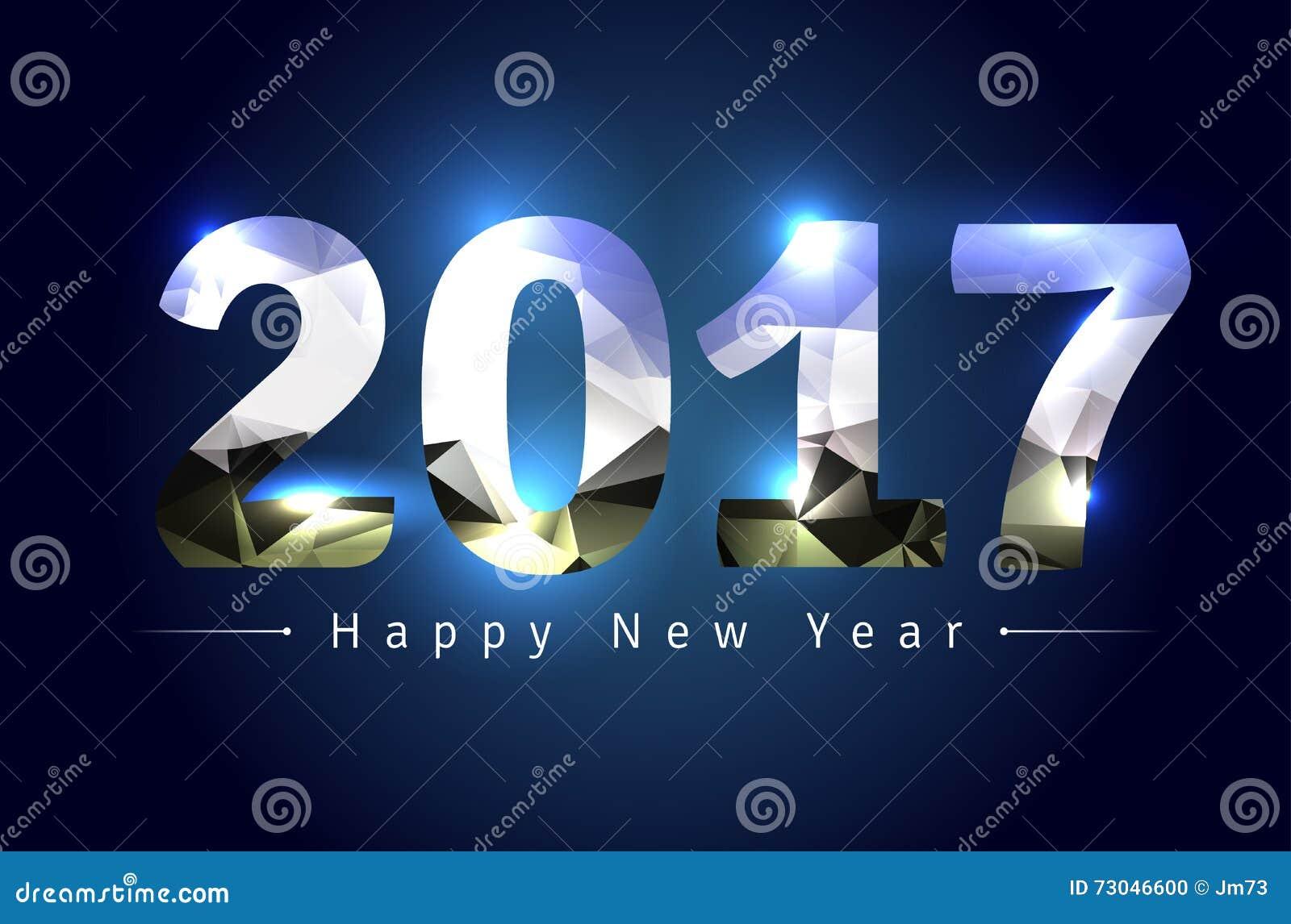 Feliz Año Nuevo 2017 ilustración del vector. Ilustración de feliz - 73046600