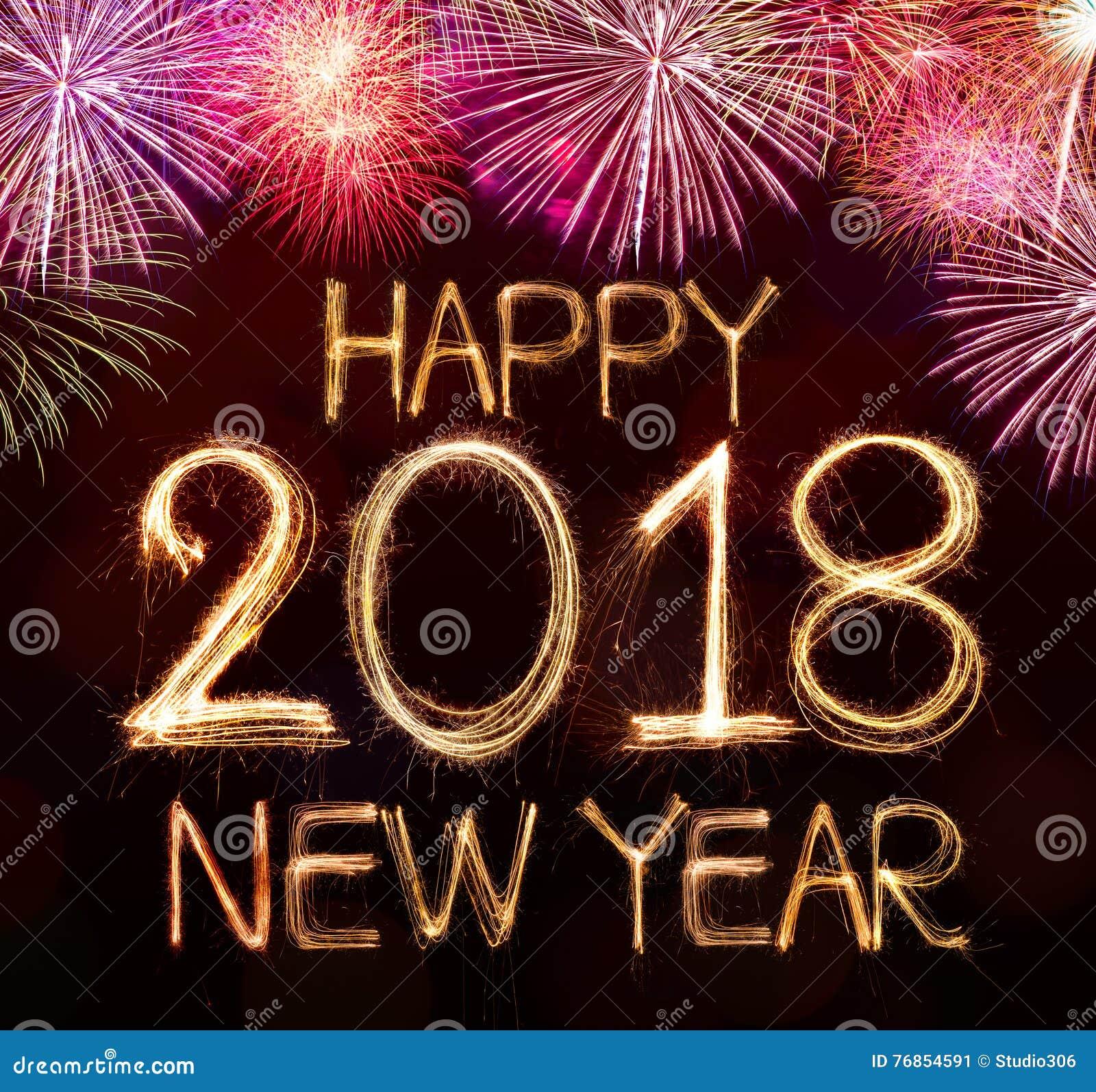Feliz Año Nuevo 2018 Imagen De Archivo Imagen De Feliz