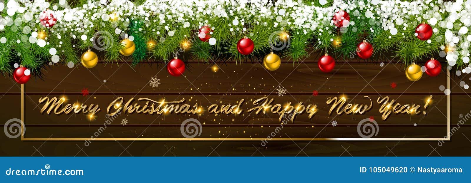 Feliz Año Nuevo, bandera panorámica