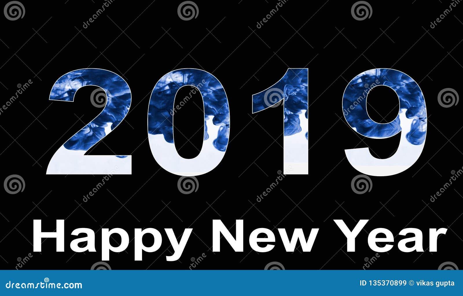 Feliz Año Nuevo 209 con el terraplén de color de agua