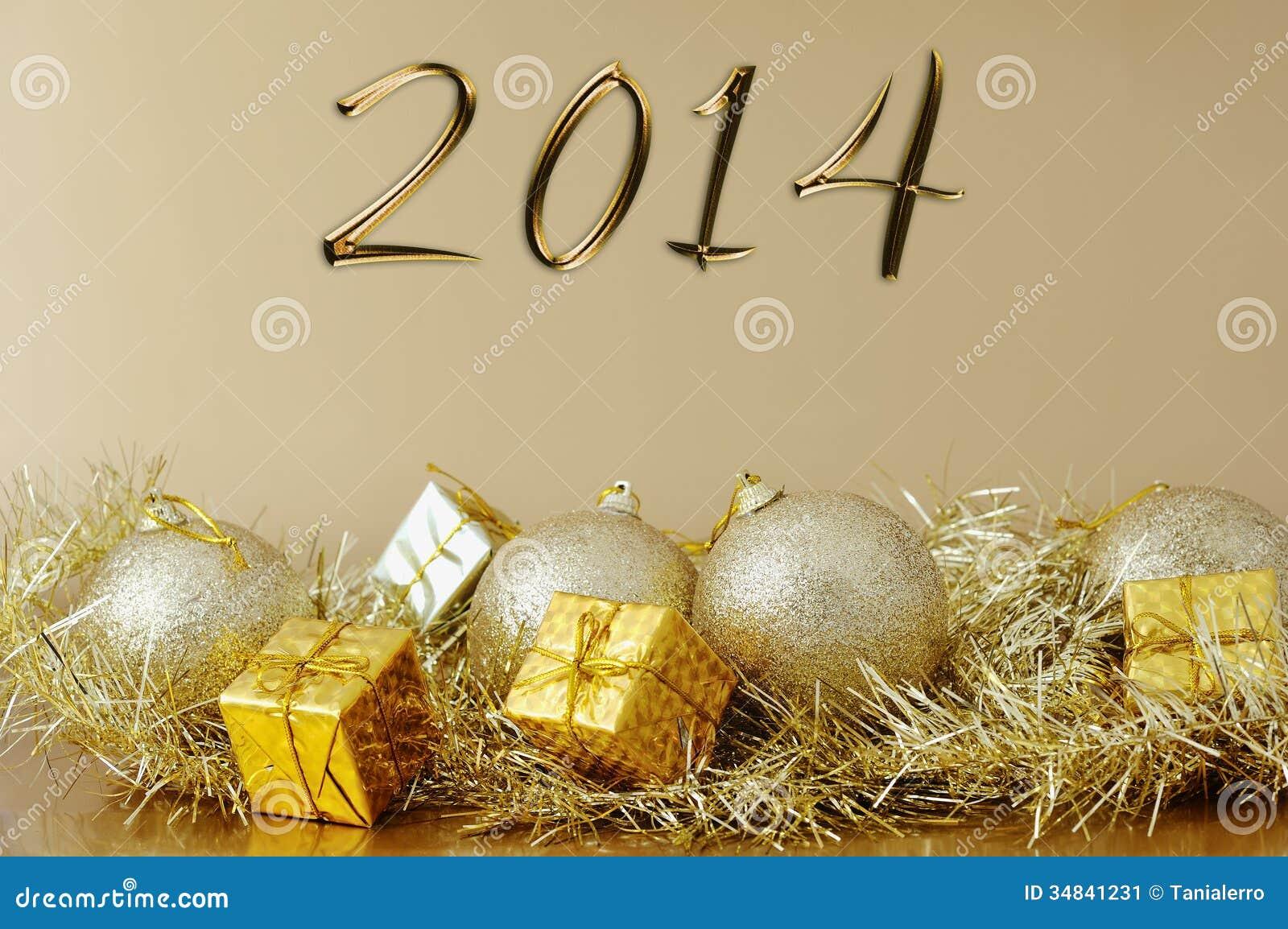 Feliz a o nuevo 2014 decoraci n de la navidad imagen de archivo imagen 34841231 - Decoracion de navidad 2014 ...