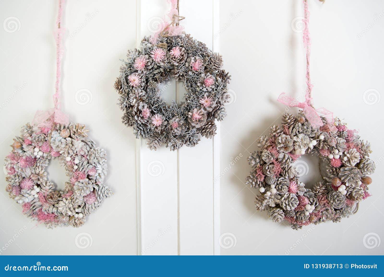 Feliz Año Nuevo Navidad Guirnalda adornada hermosa Feliz Navidad y buenas fiestas La mañana antes de Navidad nuevo