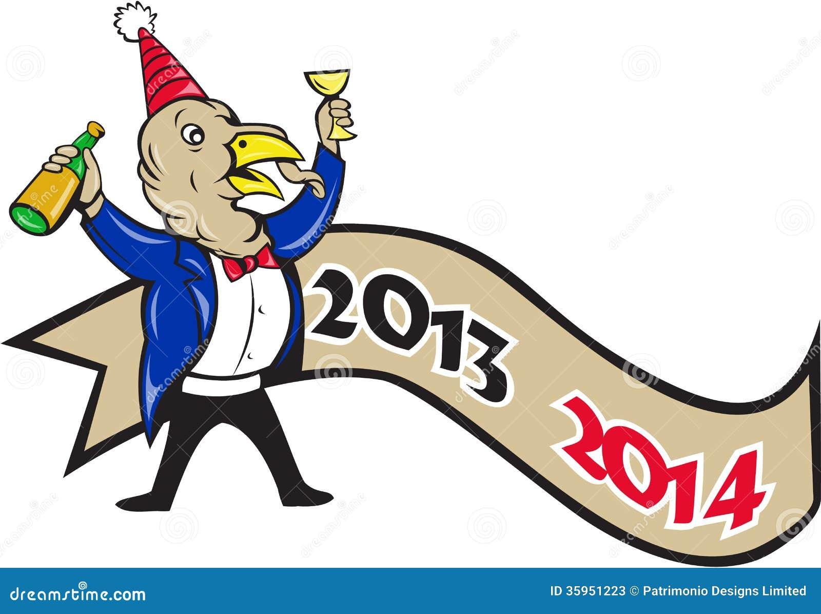 Feliz Año Nuevo Turquía 2014 que tuesta la historieta del vino