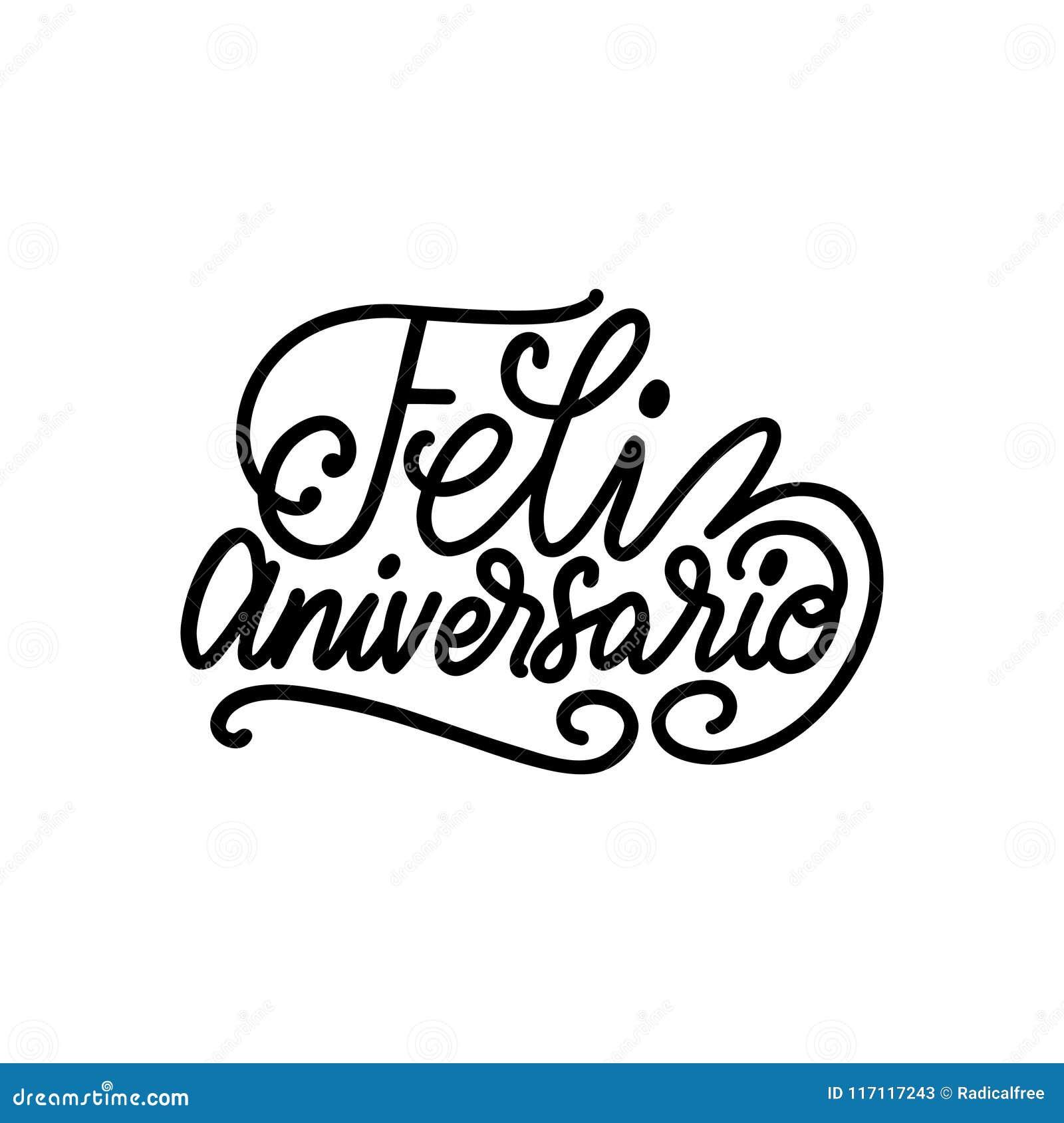 Feliz Aniversario переведенное от годовщины испанской