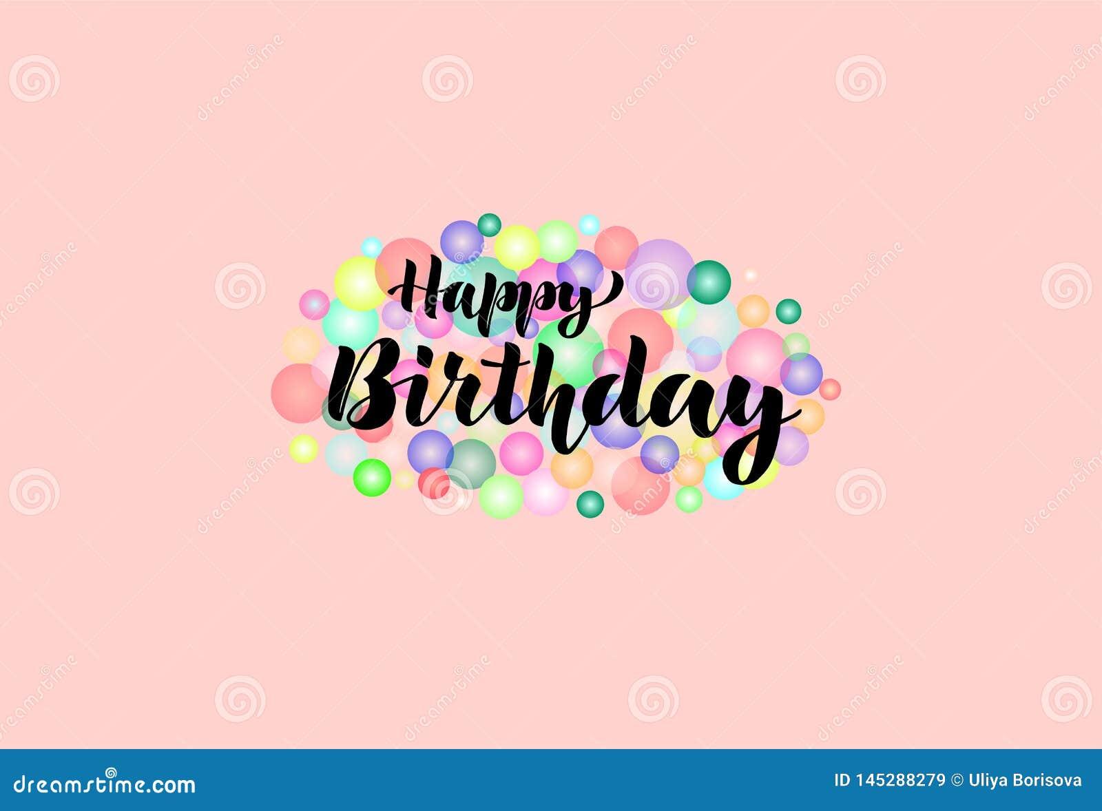 Feliz aniversario congratulation lettering