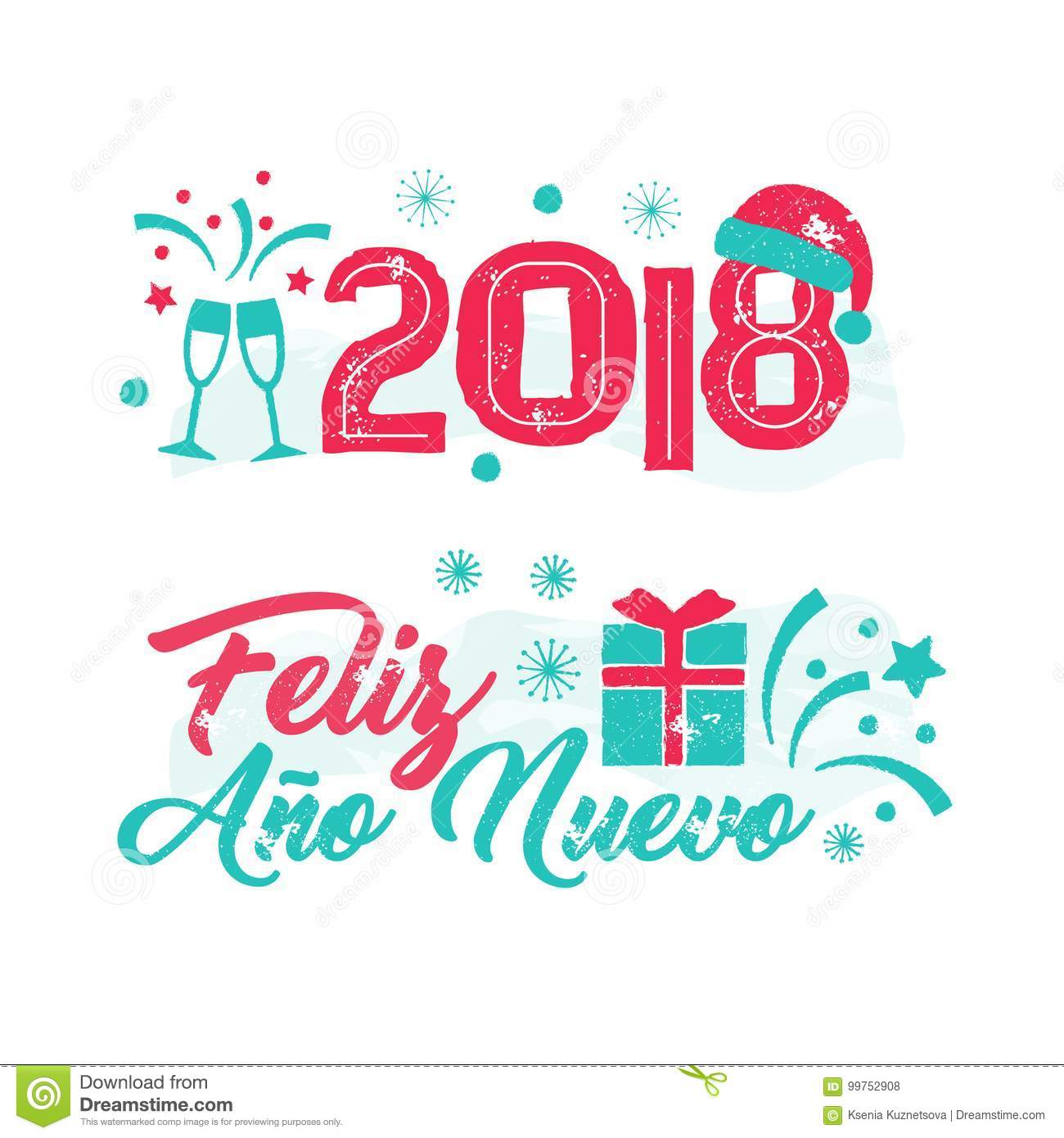 feliz ano nuevo happy new year spanish language