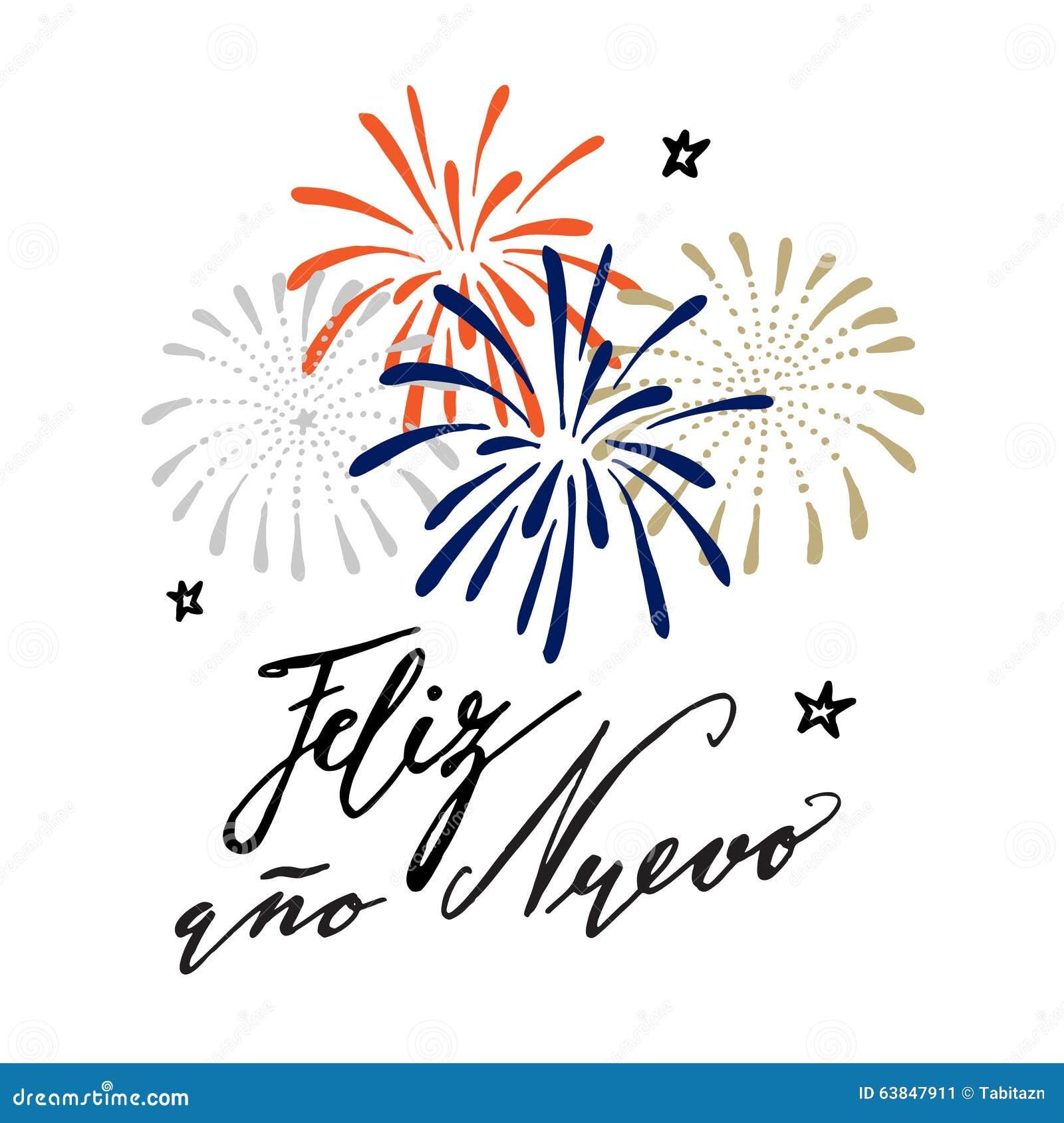 Feliz ano nuevo spanish happy new year greeting card stock vector feliz ano nuevo spanish happy new year greeting card m4hsunfo Choice Image