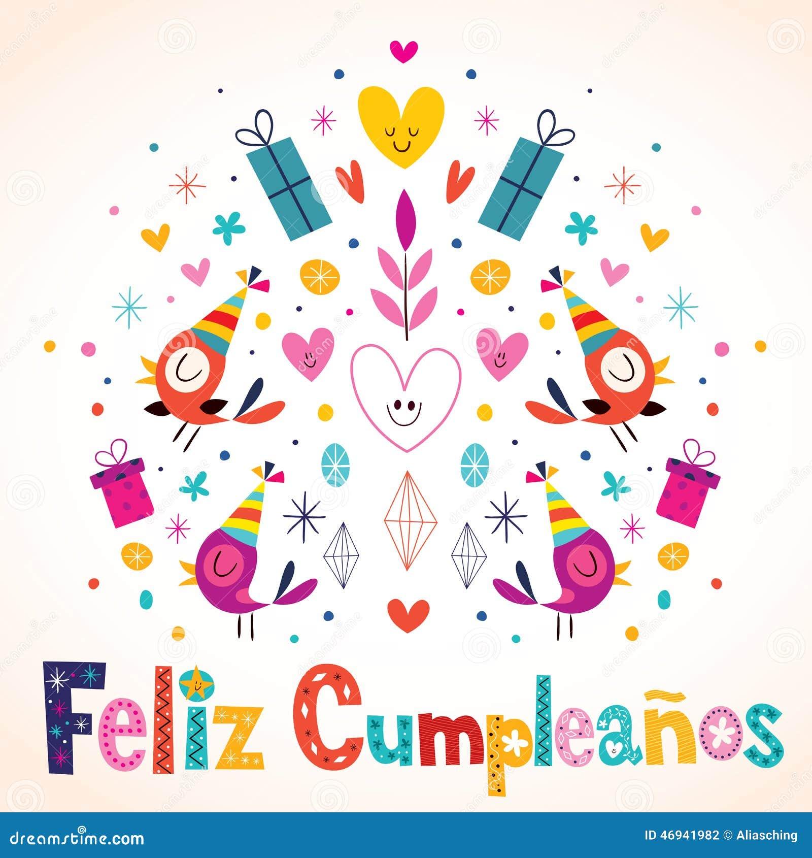 Alles Gute Zum Geburtstag Spanisch Einladungskarte Wunsche Zur