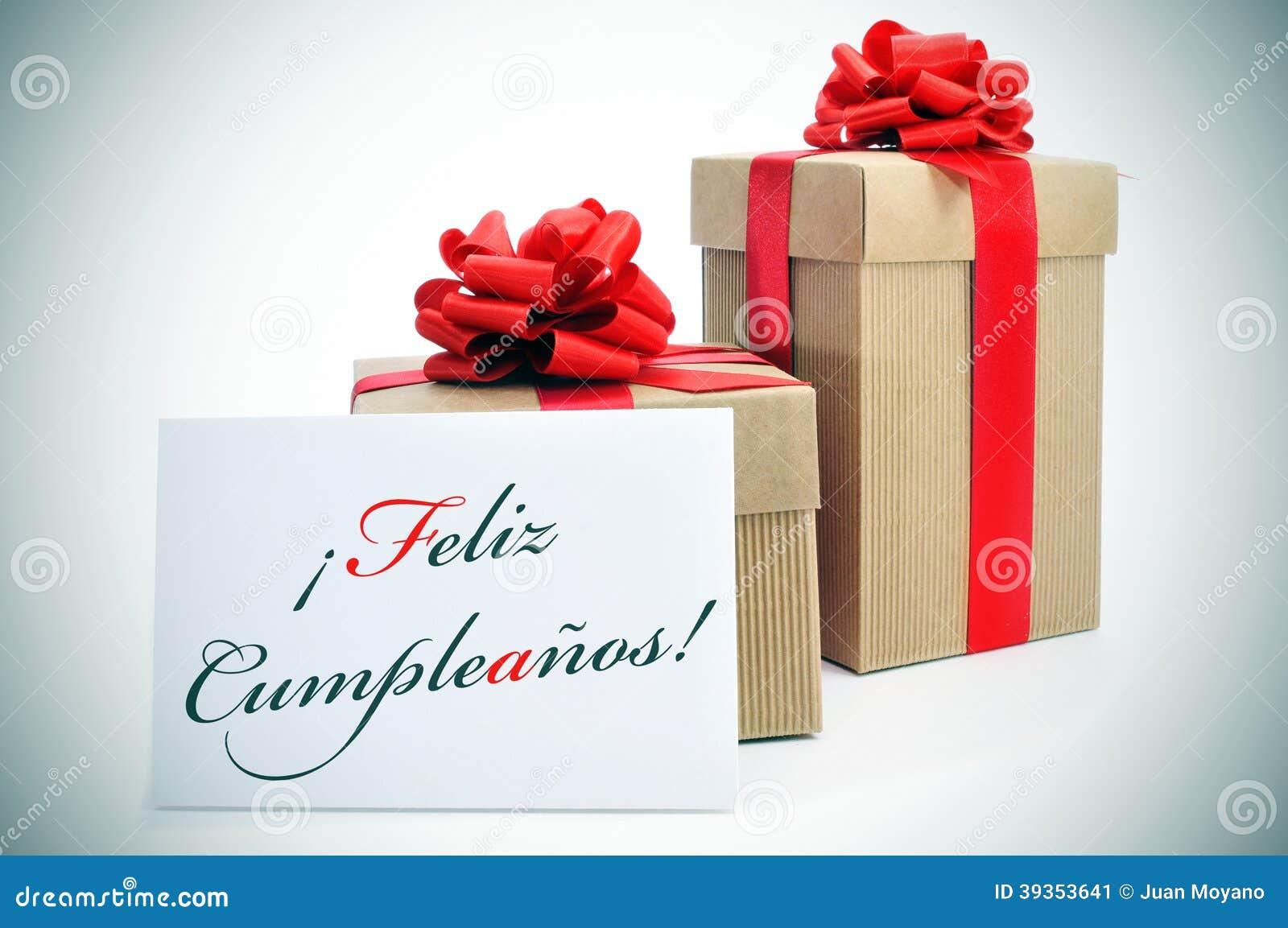 Feliz-cumpleanos, alles Gute zum Geburtstag geschrieben auf spanisch