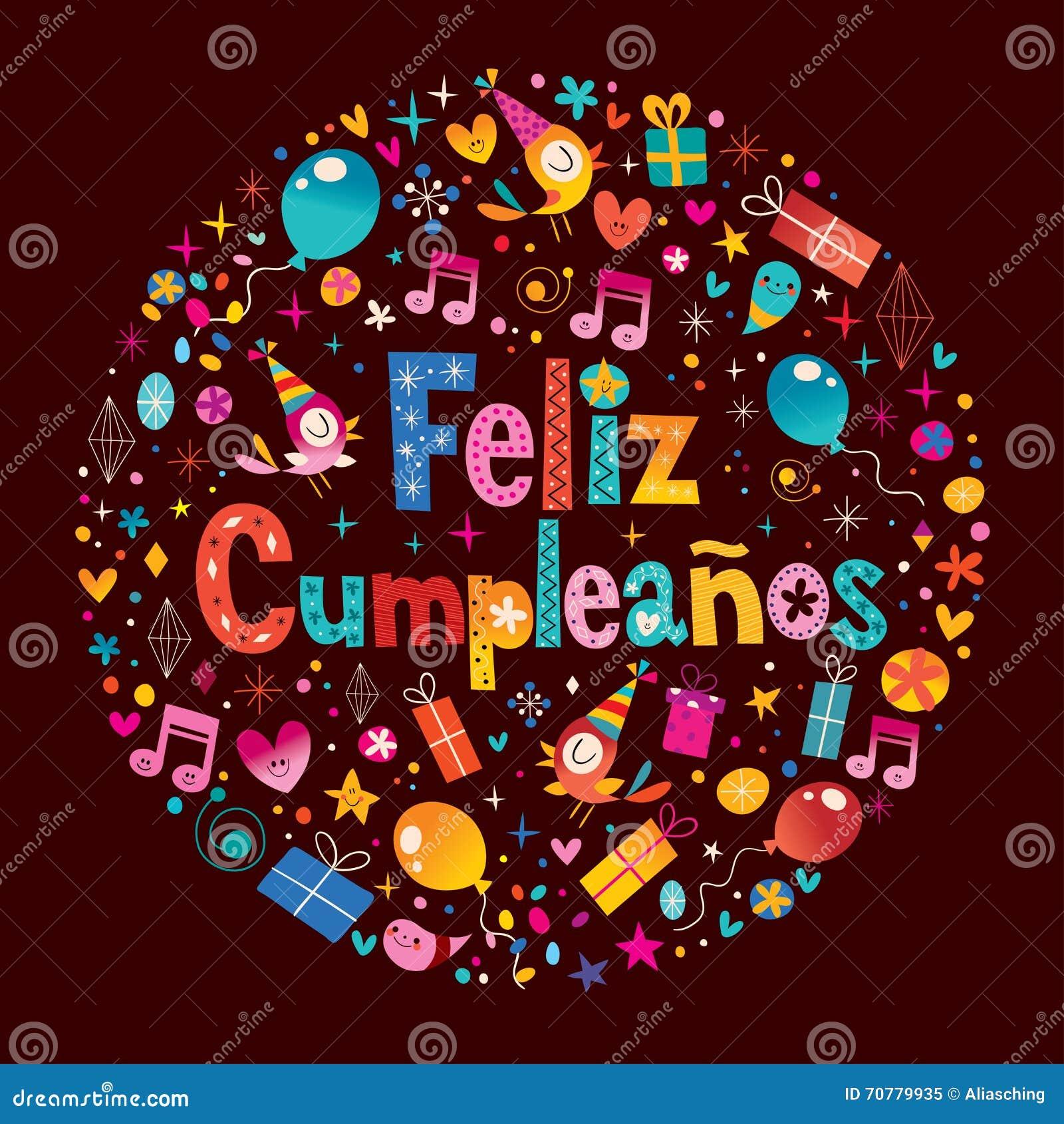 Feliz Cumpleanos - feliz cumpleaños en tarjeta de felicitación española