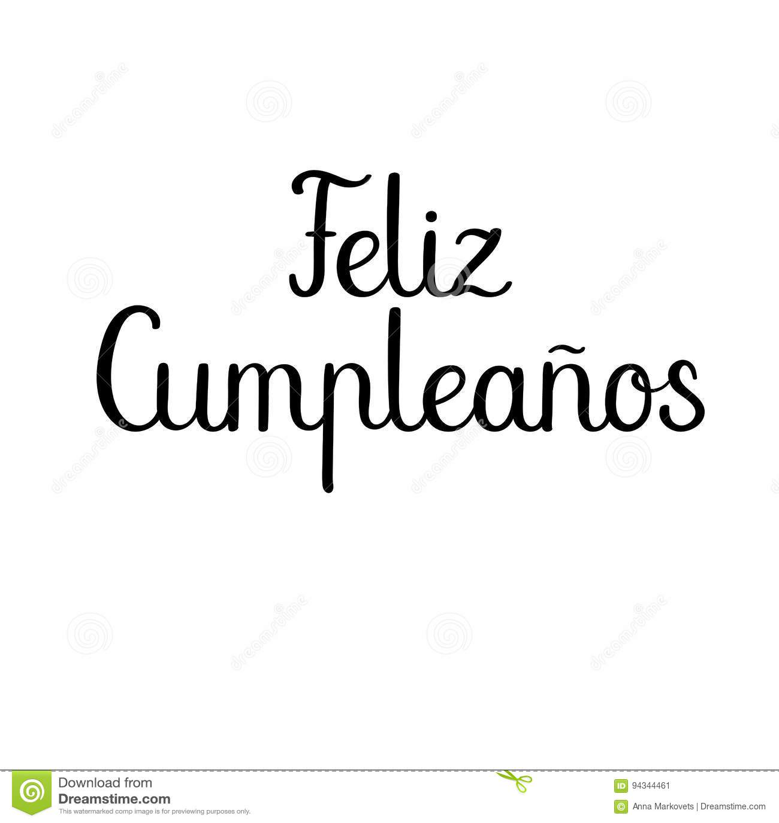 Feliz Cumpleanos Happy Birthday In Spanish Modern Calligraphy