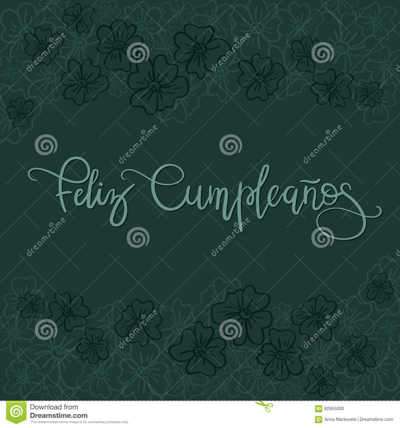 Feliz cumpleanos happy birthday spanish text stock