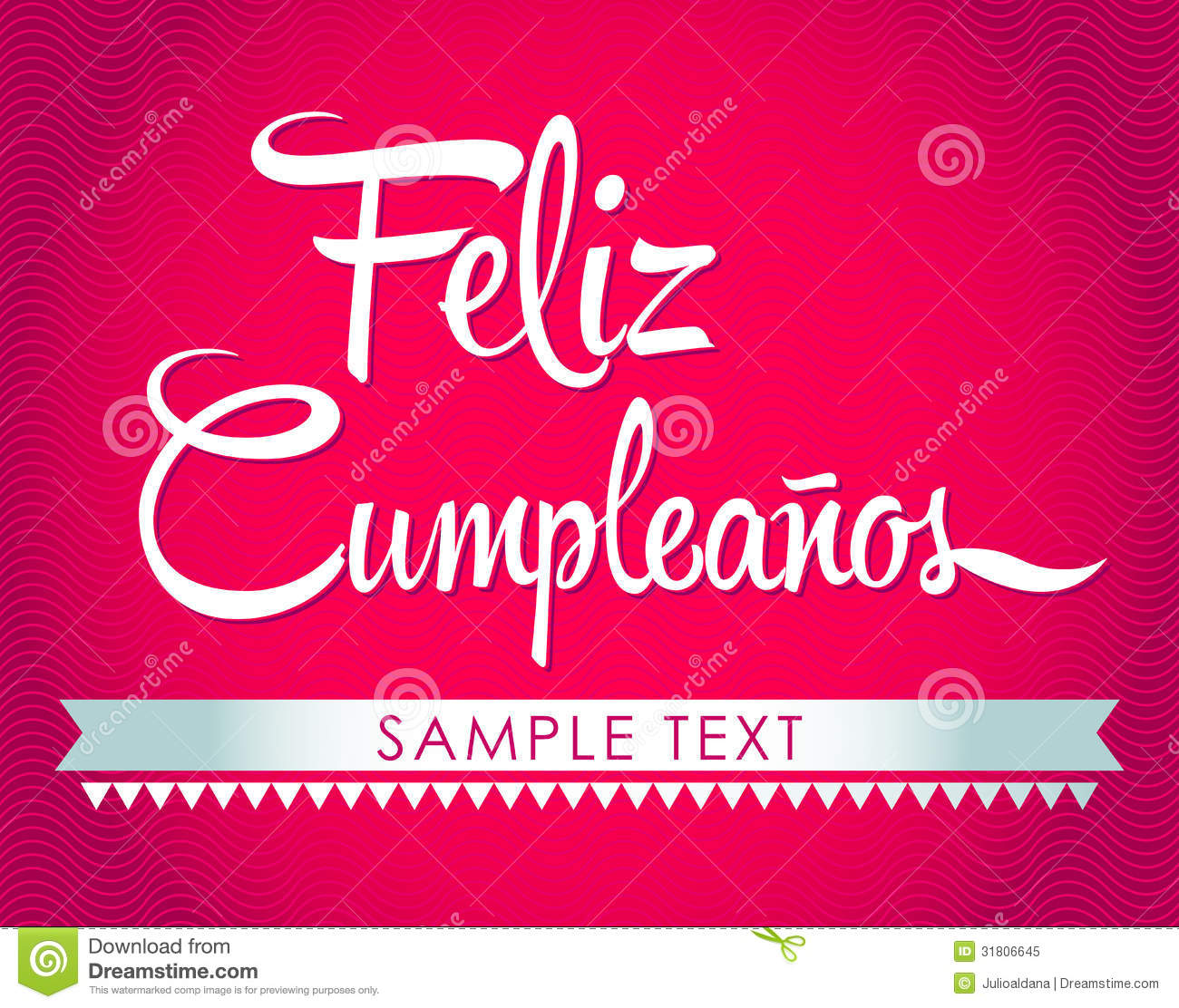 feliz cumpleanos  happy birthday spanish text royalty free stock, Birthday card