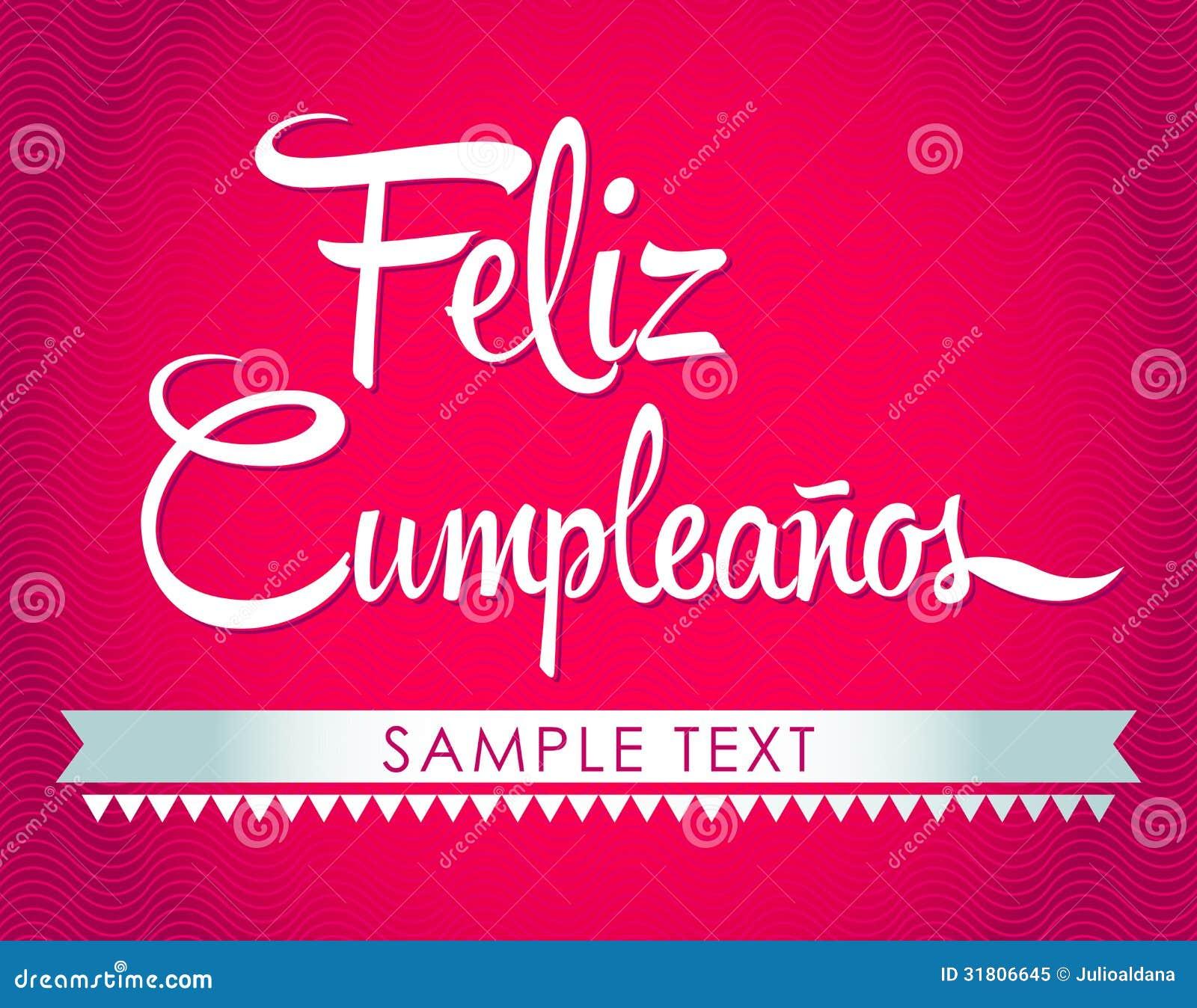 Happy Birthday Spanish Feliz Cumpleanos