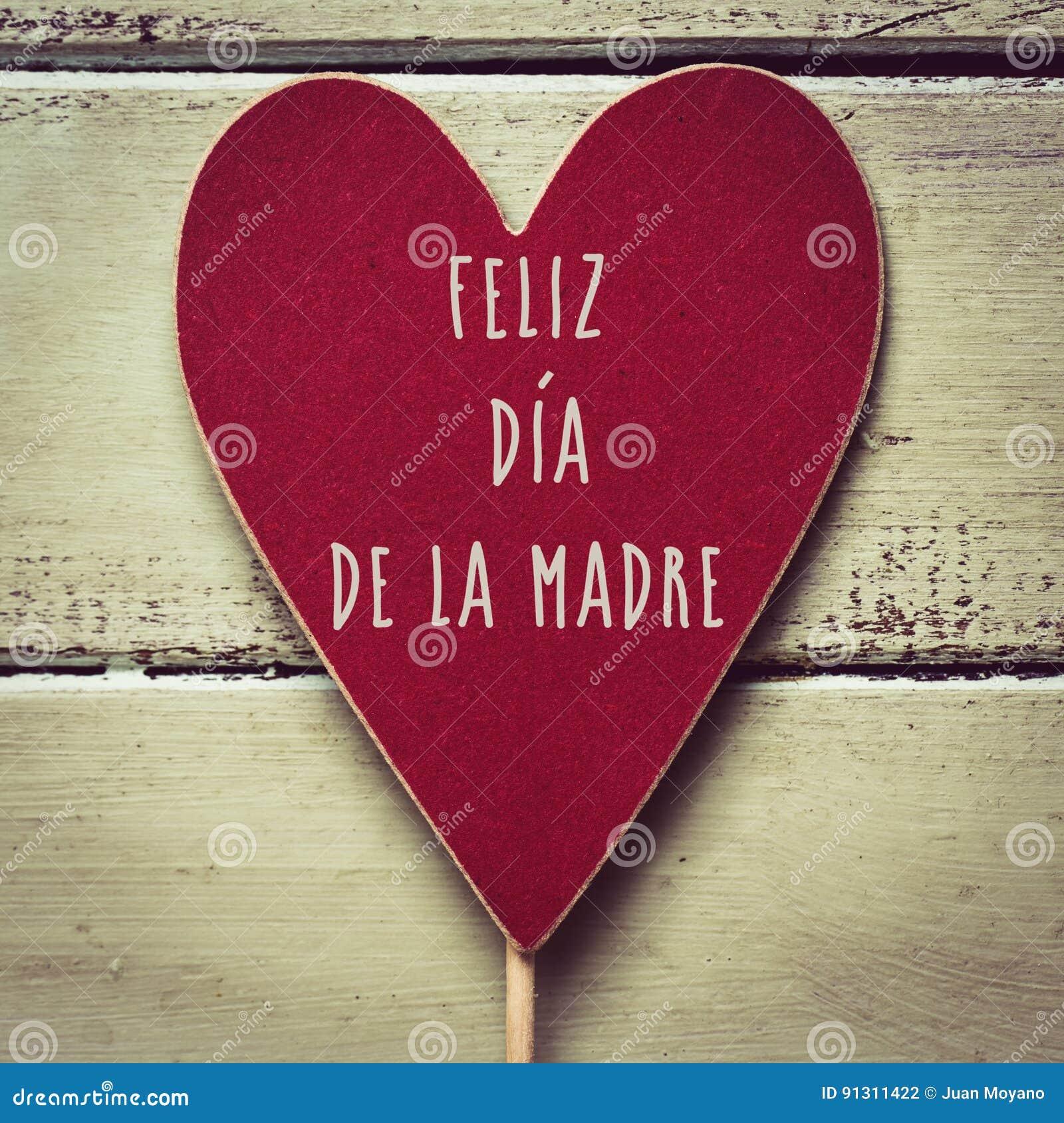 Feliz dia de la Madre, glücklicher Muttertag auf spanisch