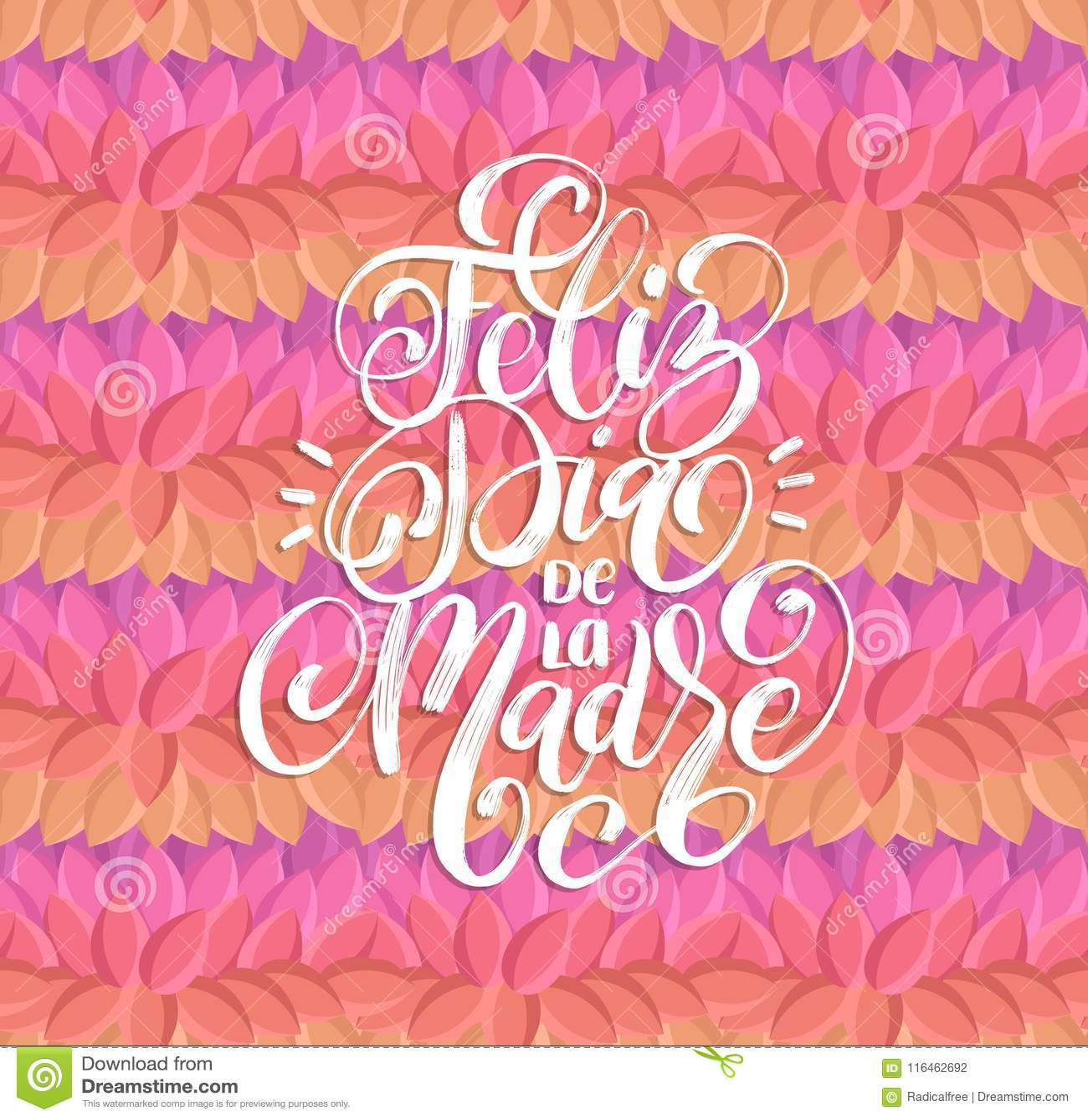 Feliz Dia De La Madre Hand Lettering Translation From