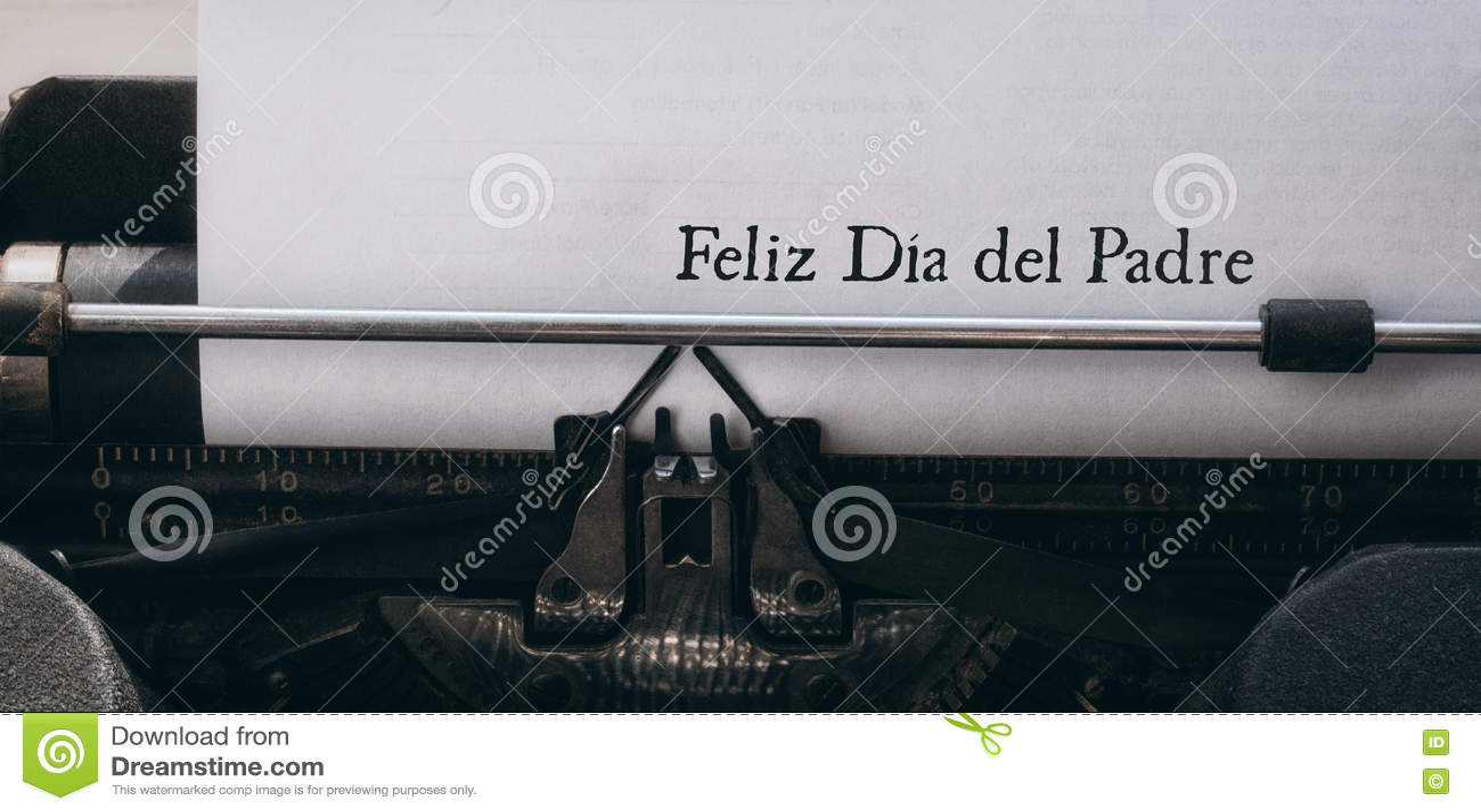 Feliz die dia del padre op papier wordt geschreven