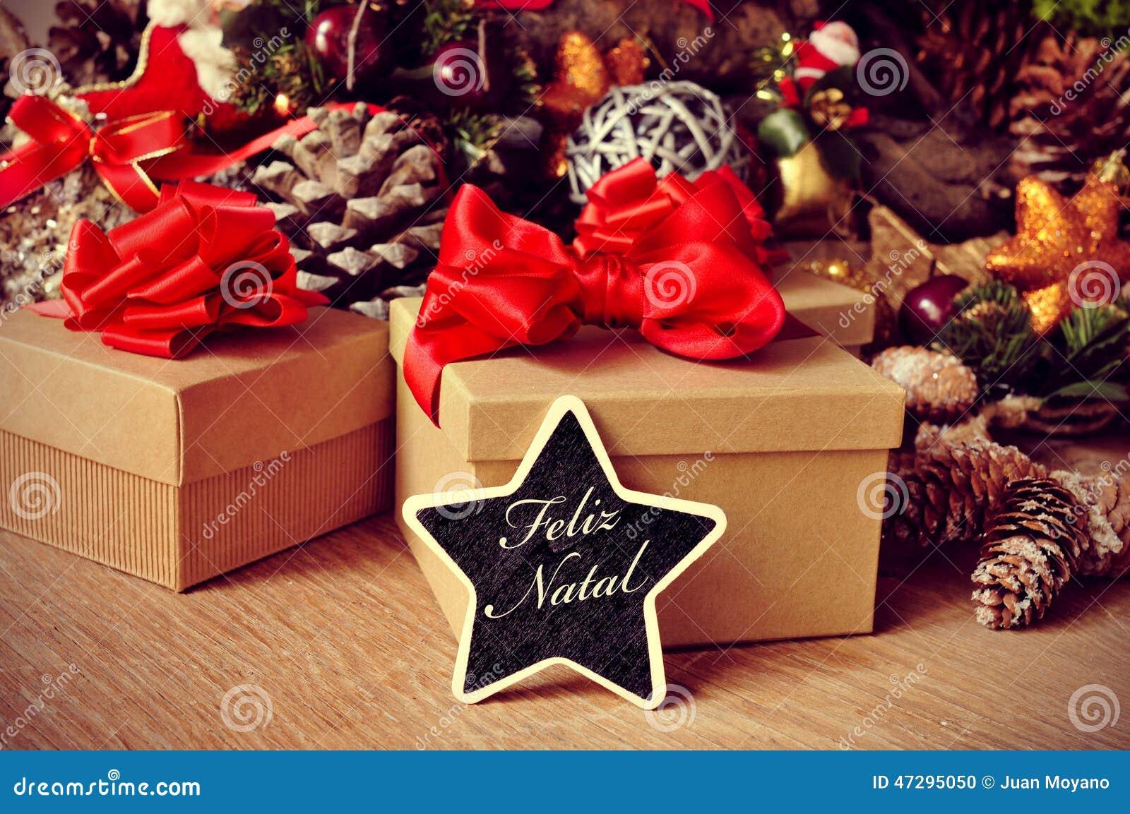 feliz geburts frohe weihnachten auf portugiesisch