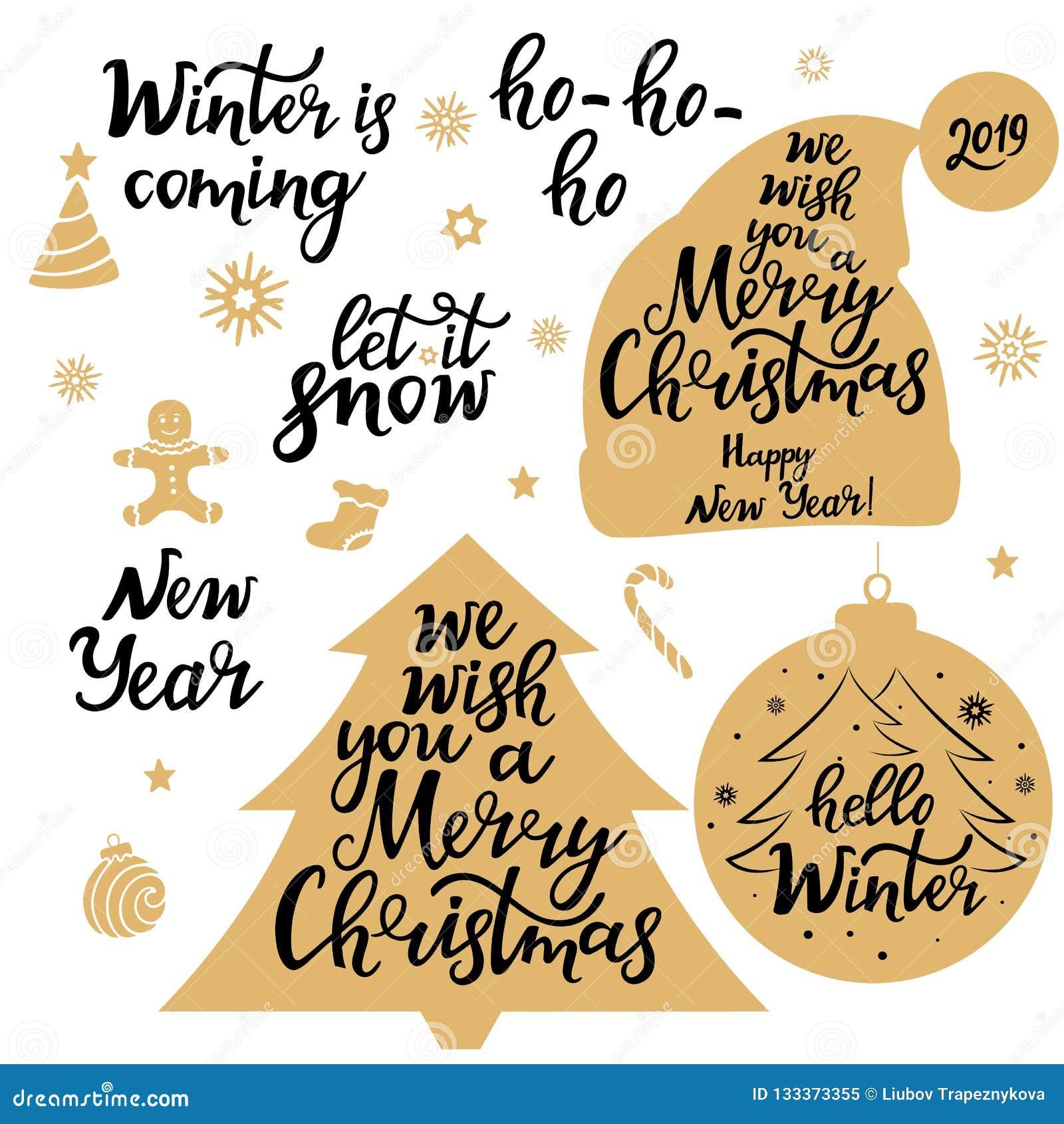 Feliz Natal Ano Novo 2019 Deixais Lhe Para Nevar O Inverno